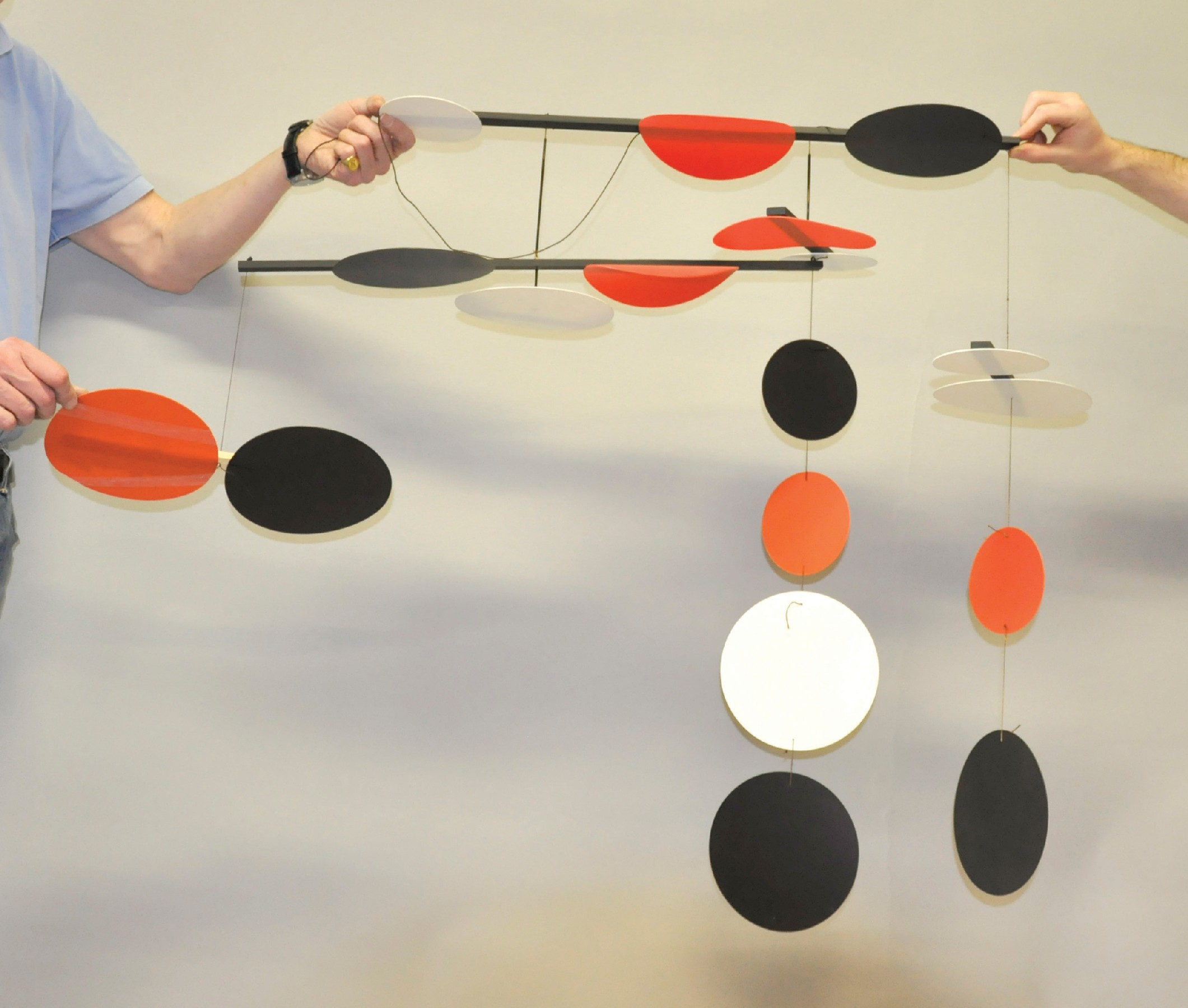 Terry Frost (1915-2003) British. 'Black, Red and White Circles', a Mobile of Eighteen Circular - Image 4 of 4