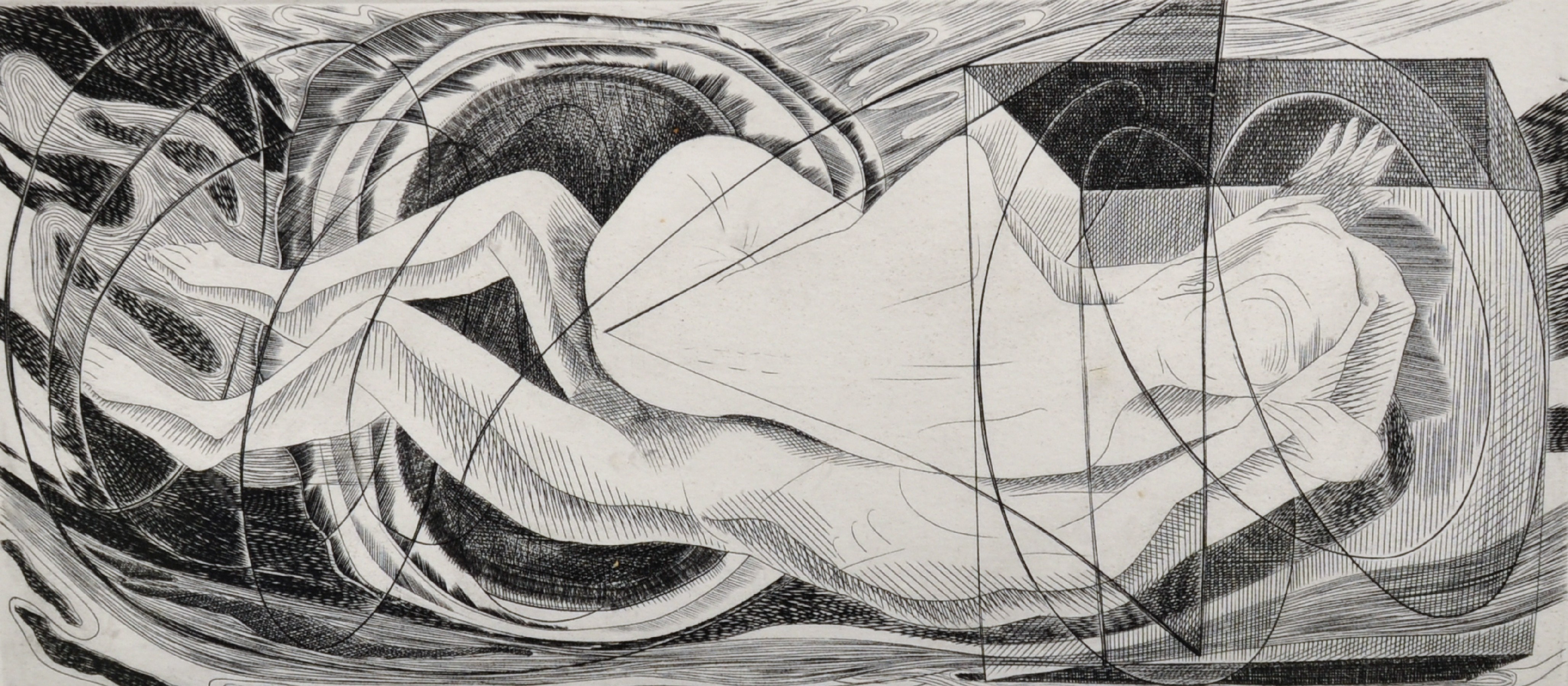 "Blair Hughes-Stanton (1902-1981) British. ""Sleep"", Etching, Signed, Inscribed, Dated '60 and"