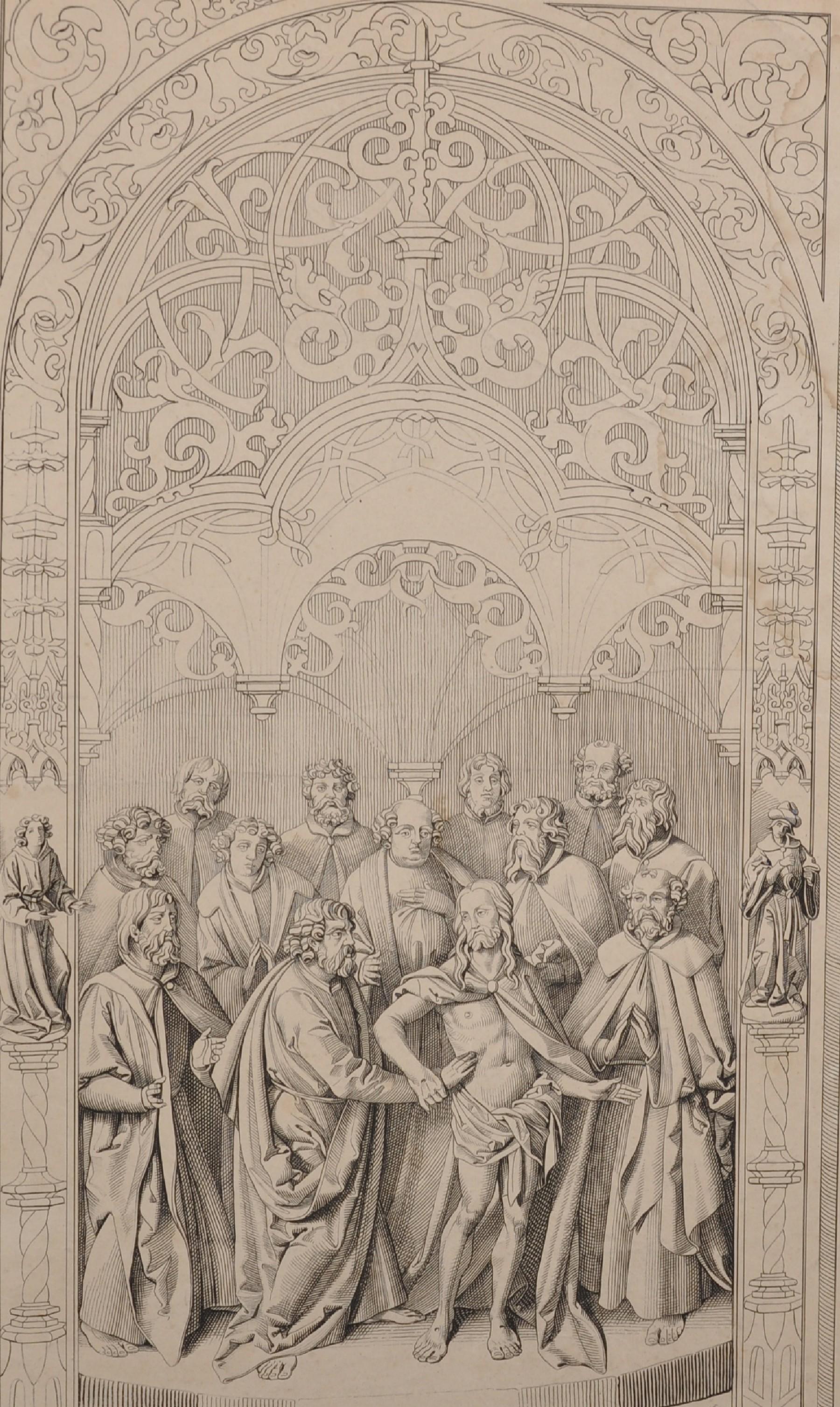 After Conrad Christian A... Boehndel (1779-1847) Danish. Design for an Altarpiece, Engraving,