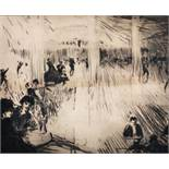 "John Rankine Barclay (1884-1962) British. ""Paris Dance Hall"", Drypoint Etching, Signed and Inscribed"
