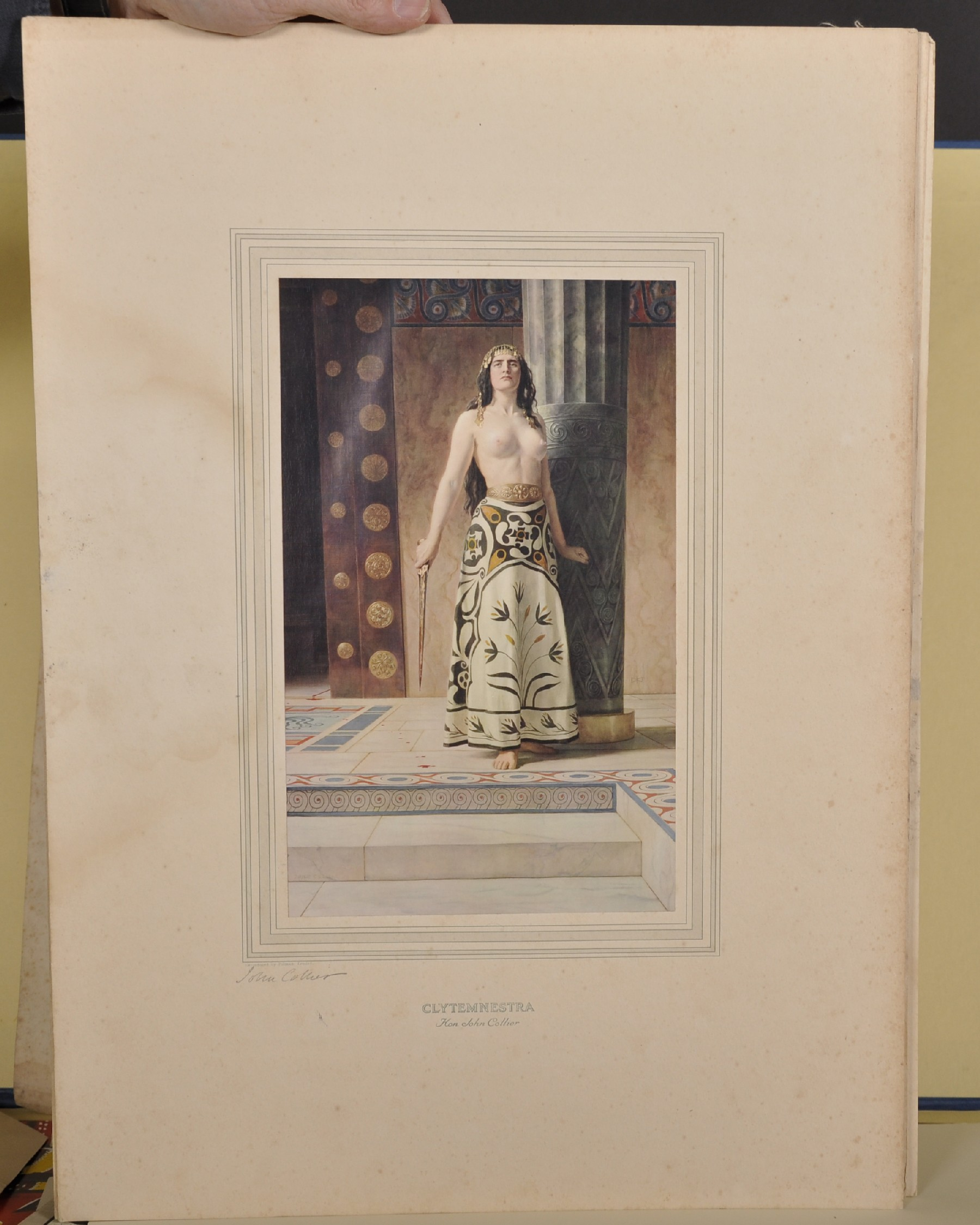 """After John Collier (1850-1934) British. """"Clytemnestra"""", Colour Reproduction, Signed in Pencil, - Image 2 of 8"""
