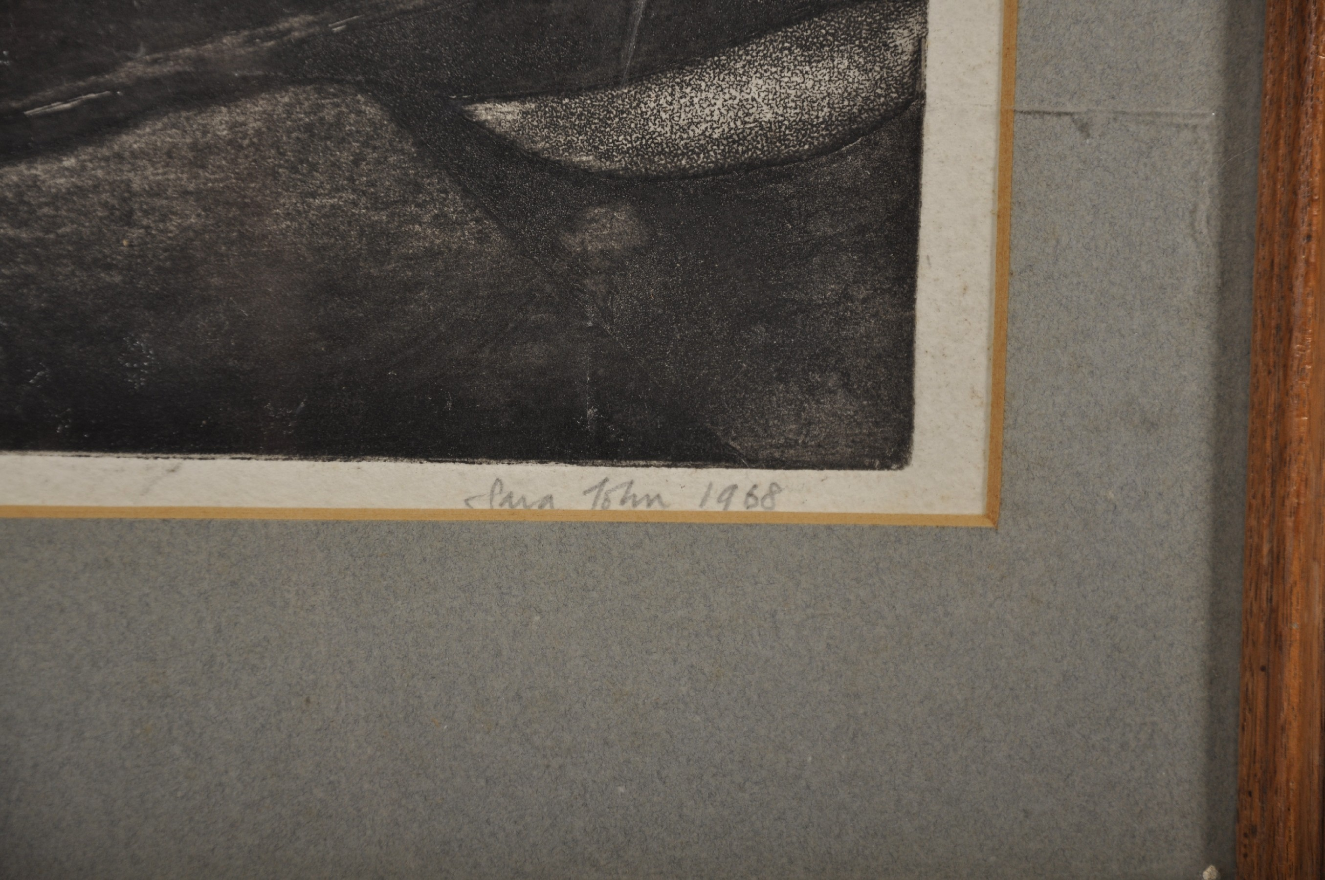 """Sara John (1946- ) British. An Abstract Landscape, Etching, Signed and Dated 1968 in Pencil, 5.5"""" - Image 3 of 4"""