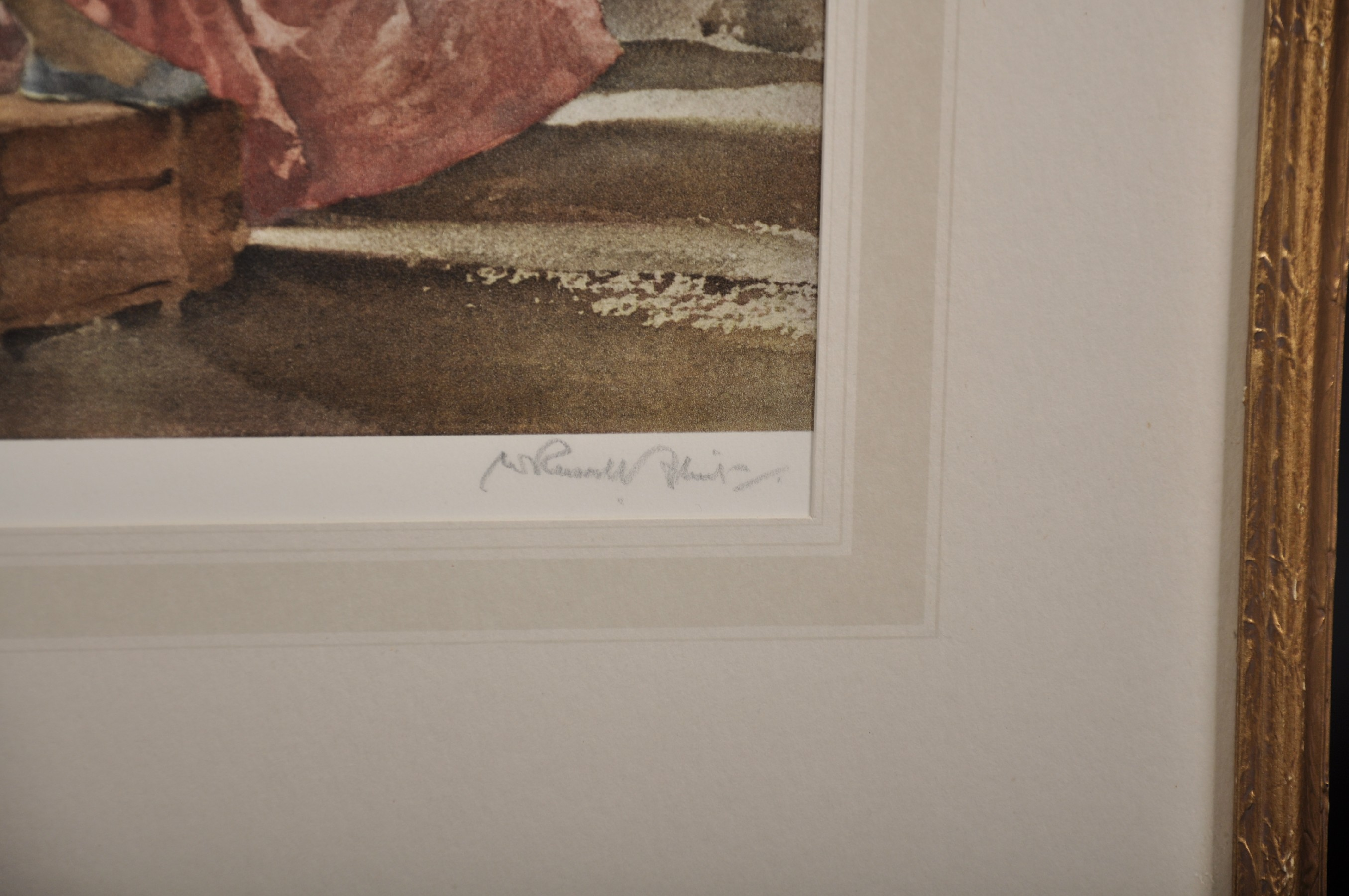 """William Russell Flint (1880-1969) British. """"Two Models, 1960"""", Lithograph, Signed in Pencil and - Image 3 of 5"""