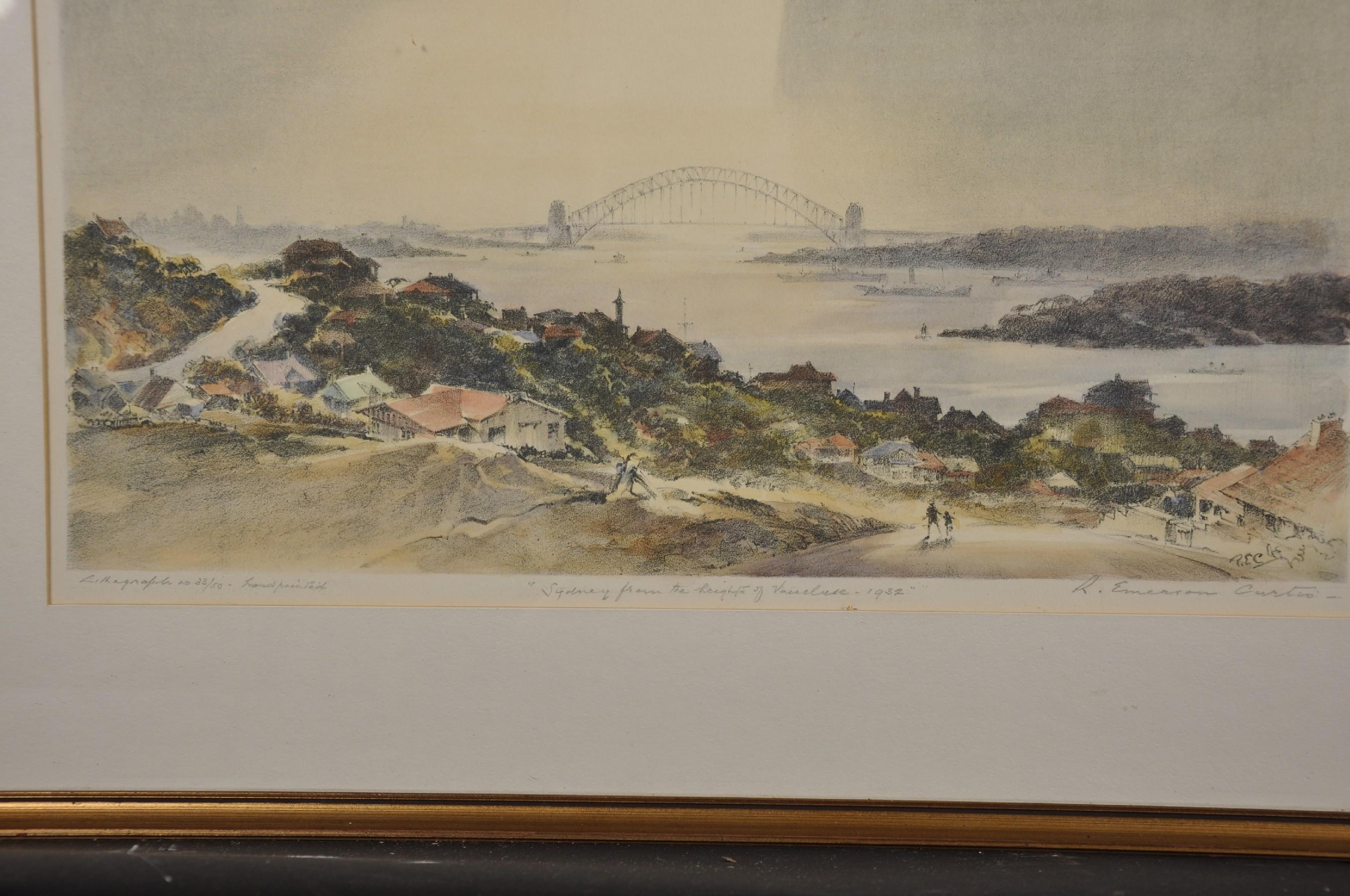 "Robert Emerson Curtis (1898-1996) British/Australian. ""The Bridge from Woolloomooloo"", with Sydney - Image 7 of 12"