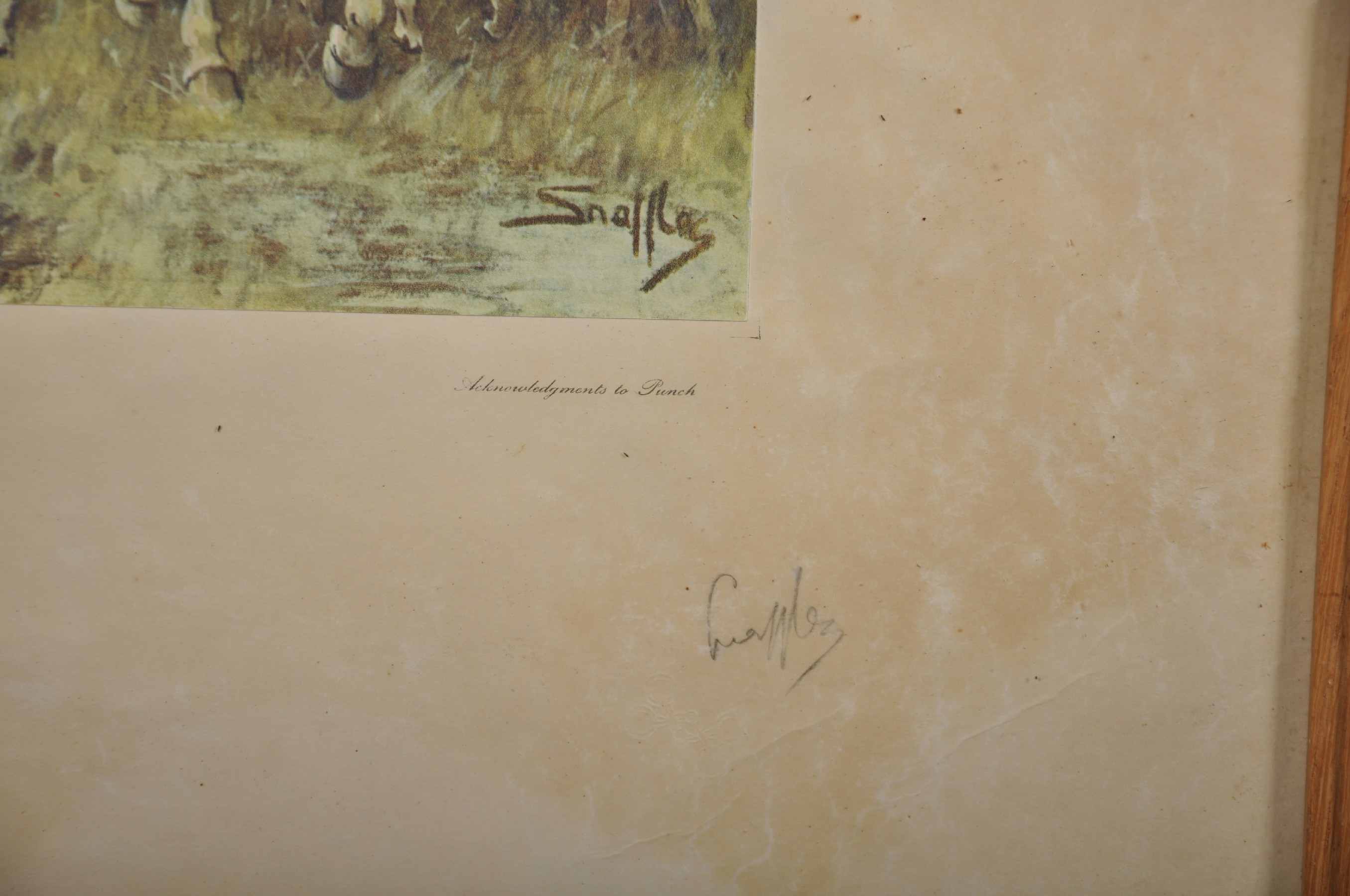 "Charles Johnson Payne 'Snaffles' (1884-1967) British. ""The Season, 1939-40"", A Coloured - Image 3 of 4"