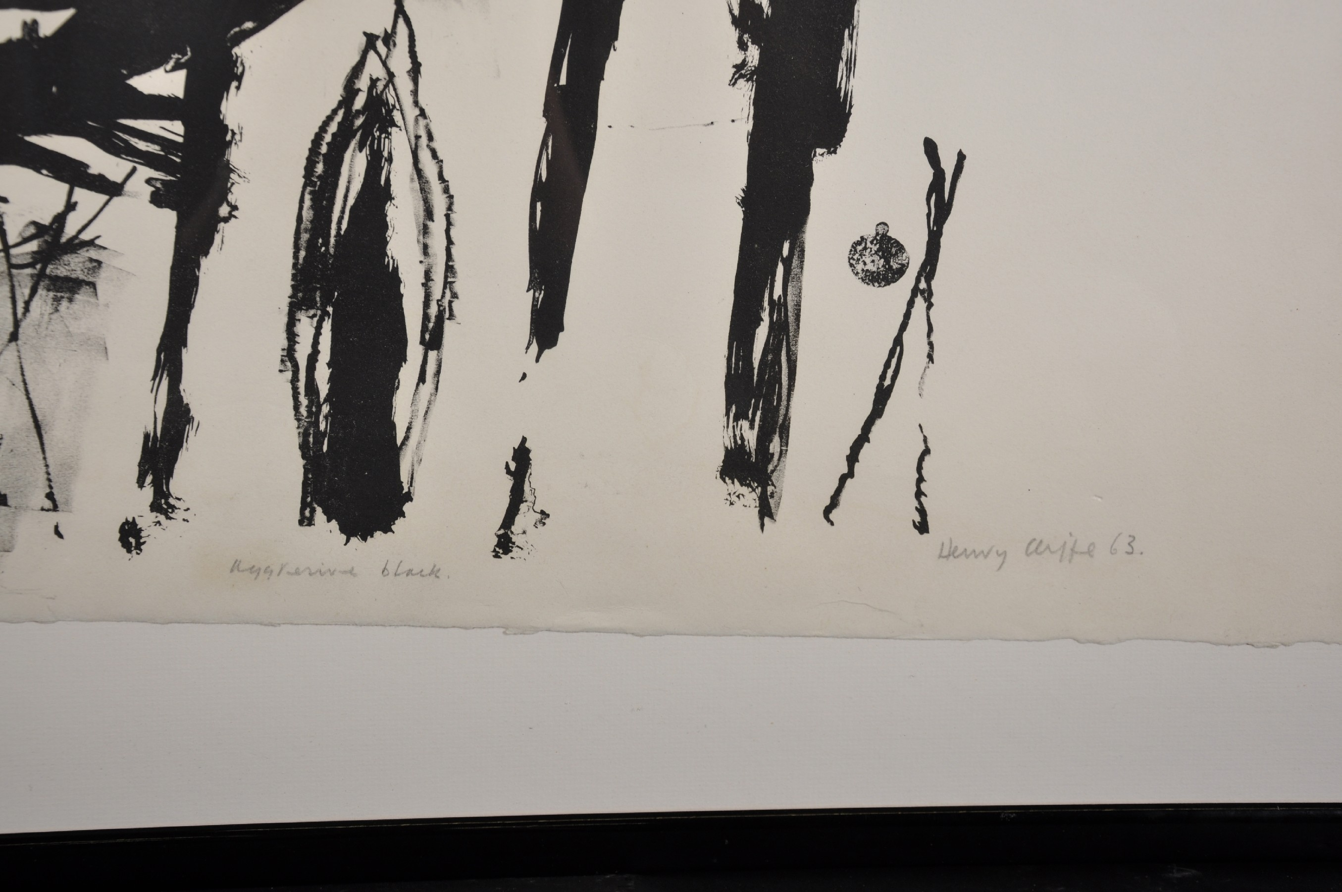"""Henry Cliffe (1919-1983) British. """"Aggresive [sic] Black"""", Lithograph, Signed, Inscribed and - Image 3 of 4"""
