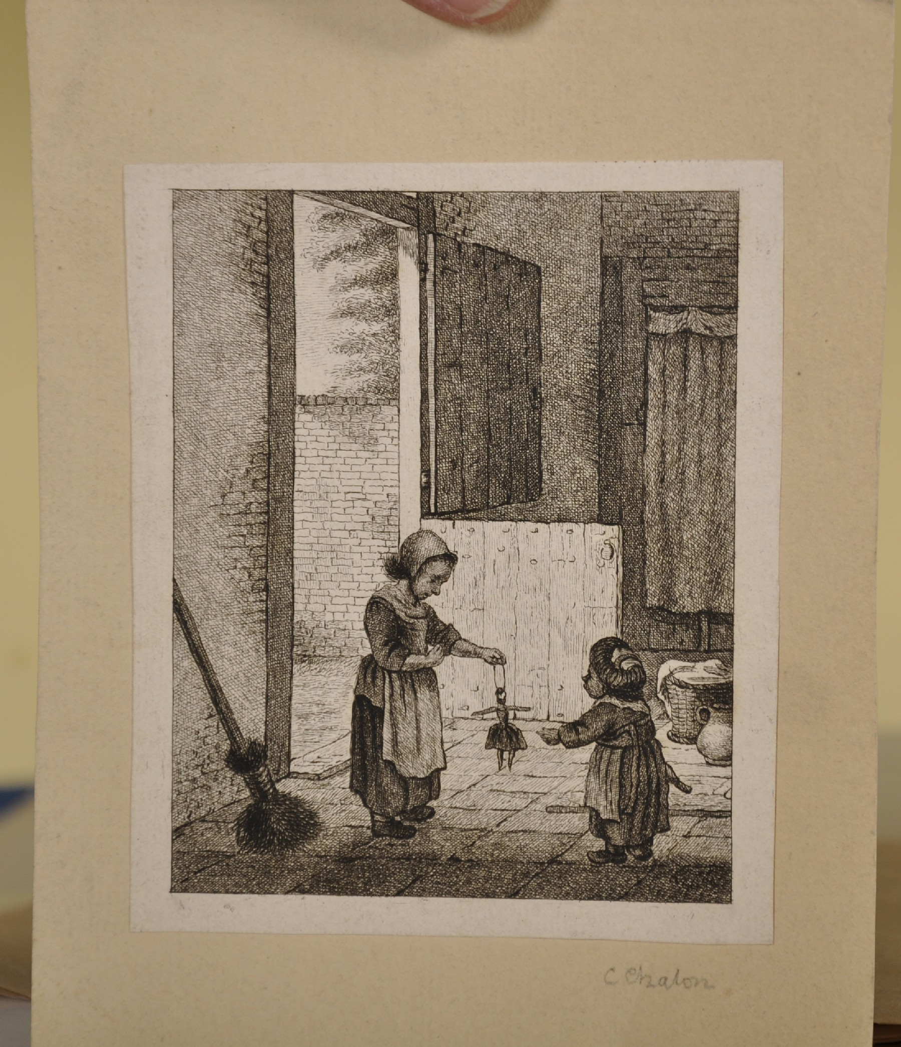 """18th Century Italian School. Cupids with an Elephant, Engraving, Unframed, 6"""" x 7.5"""", and Seven - Image 3 of 9"""