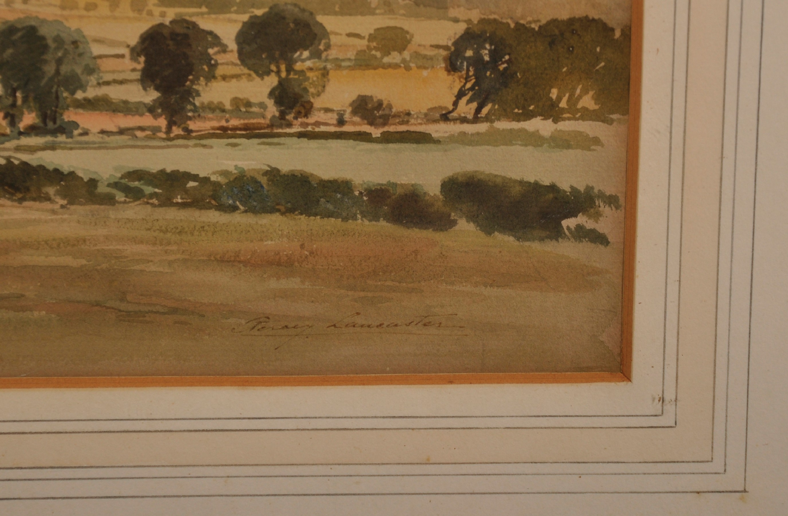 """Percy Lancaster (1878-1951) British. An Extensive Landscape, Watercolour, Signed, 12"""" x 25"""". - Image 3 of 4"""