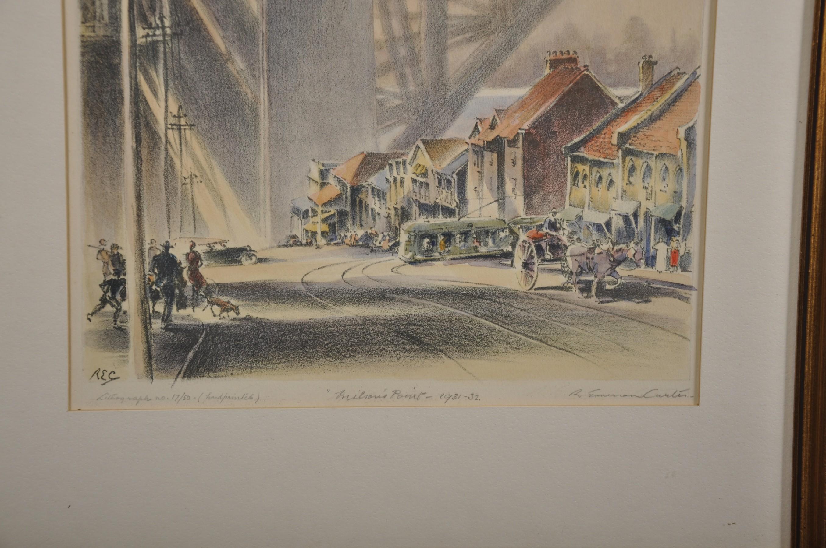 "Robert Emerson Curtis (1898-1996) British/Australian. ""The Bridge from Woolloomooloo"", with Sydney - Image 9 of 12"