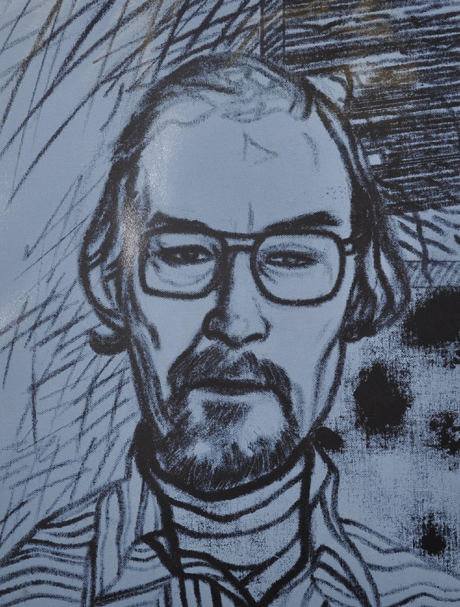 Ronald Brooks Kitaj (1932-2007) American. Portrait of Chris Prater (1890), Screenprint in Colours,