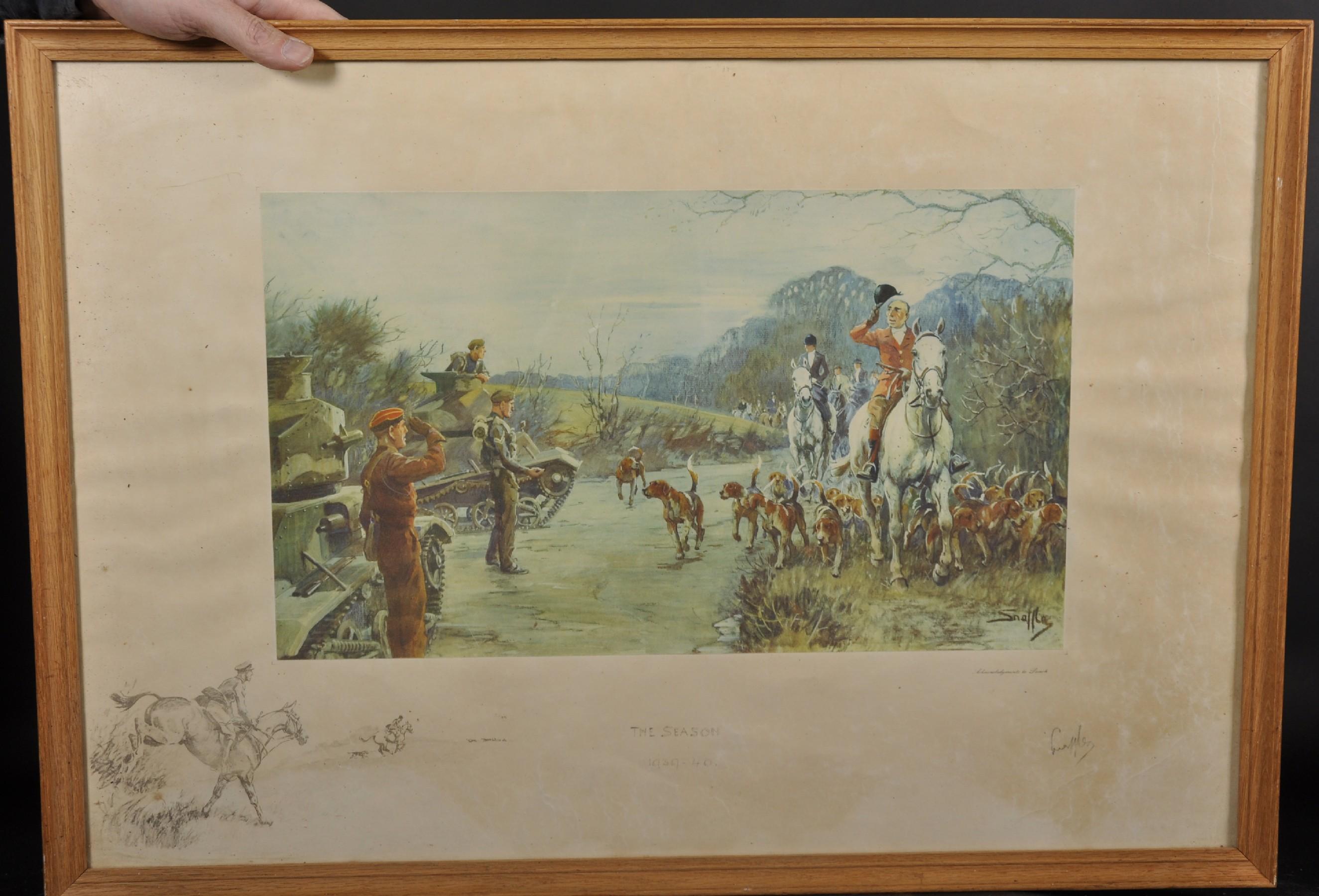 "Charles Johnson Payne 'Snaffles' (1884-1967) British. ""The Season, 1939-40"", A Coloured - Image 2 of 4"