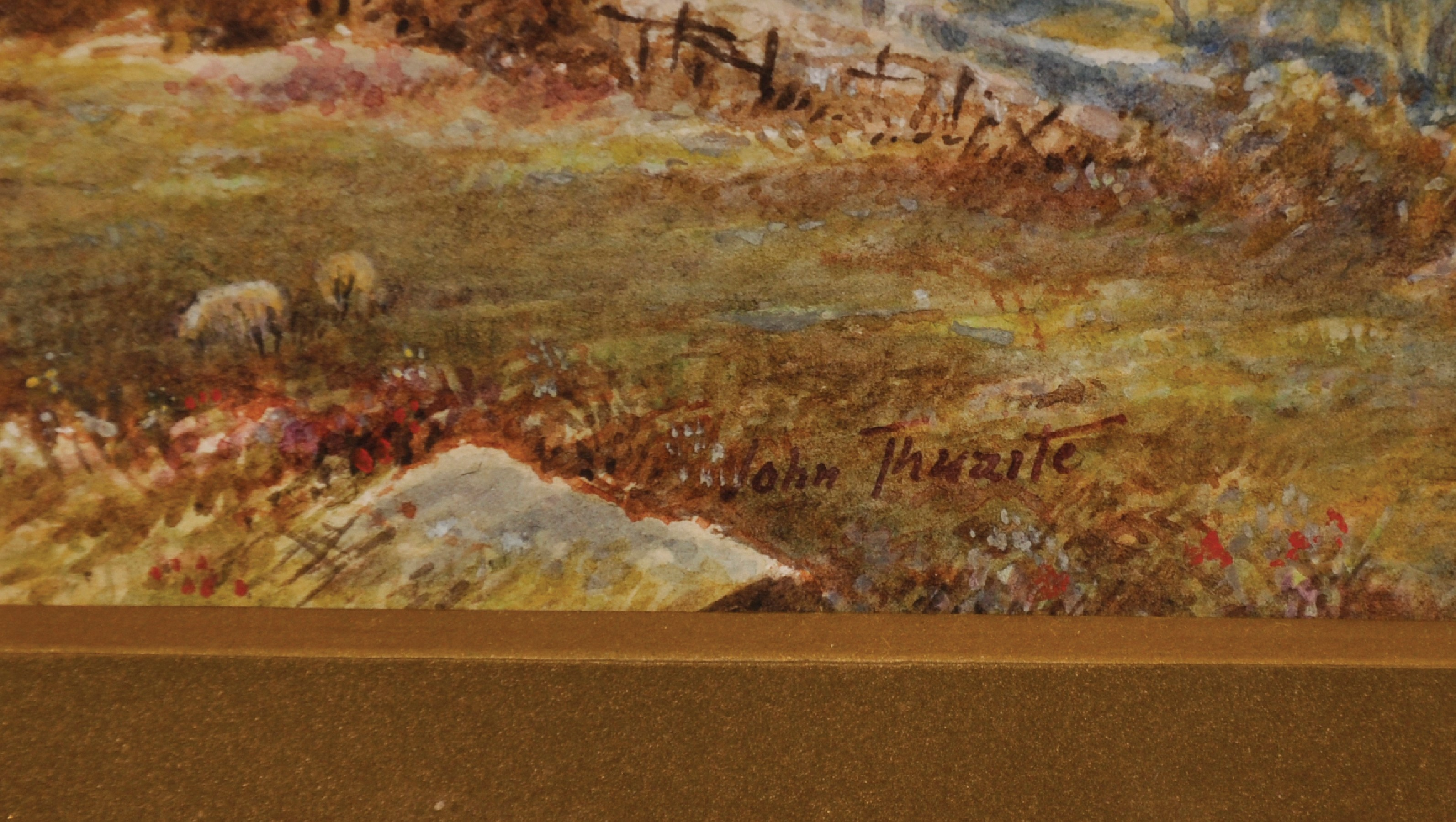 """John Thwaite (19th - 20th Century) British. """"Head of Buttermere"""", Watercolour, Signed, and Inscribed - Image 3 of 5"""