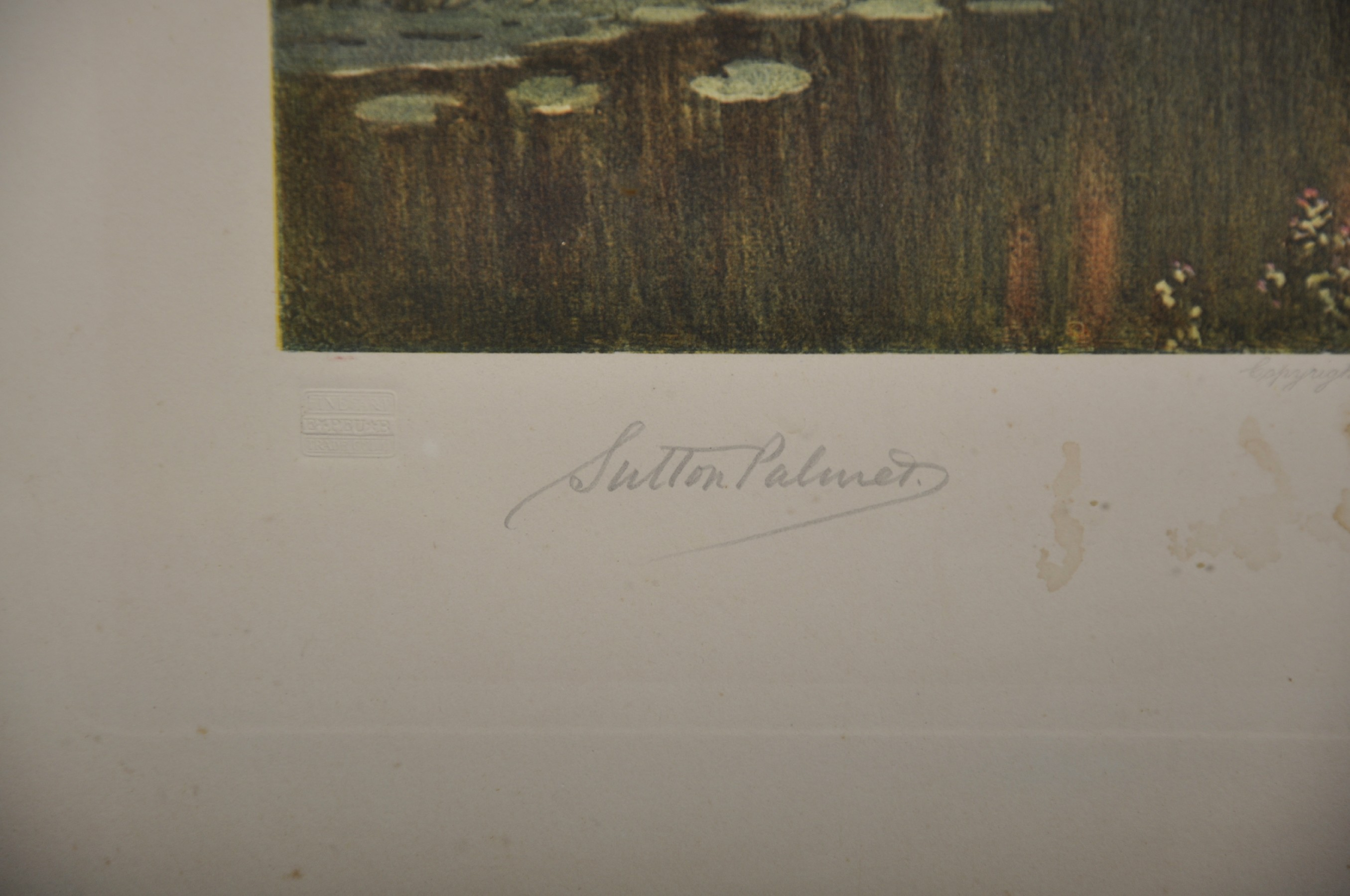 Harry Sutton Palmer (1854-1933) British. A Tranquil River Landscape, Print, Signed in Pencil, with - Image 6 of 6