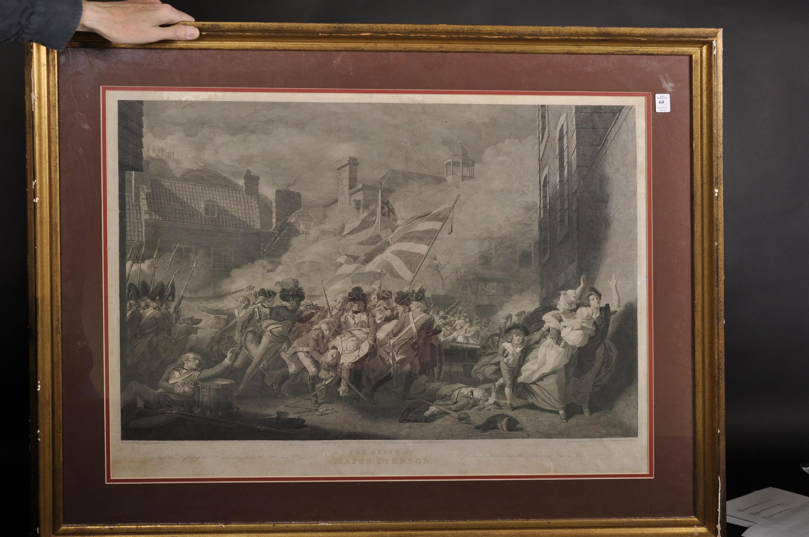 "William Sharp (1749-1824) British after John Singleton Copley (1737-1815) British. ""The Siege and - Image 2 of 4"