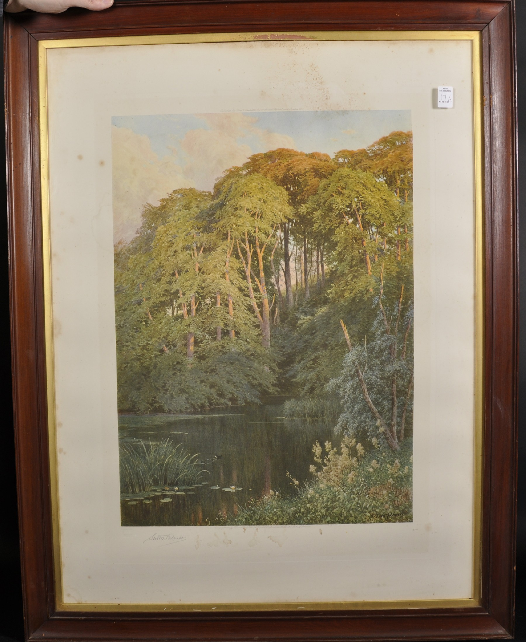 Harry Sutton Palmer (1854-1933) British. A Tranquil River Landscape, Print, Signed in Pencil, with - Image 3 of 6