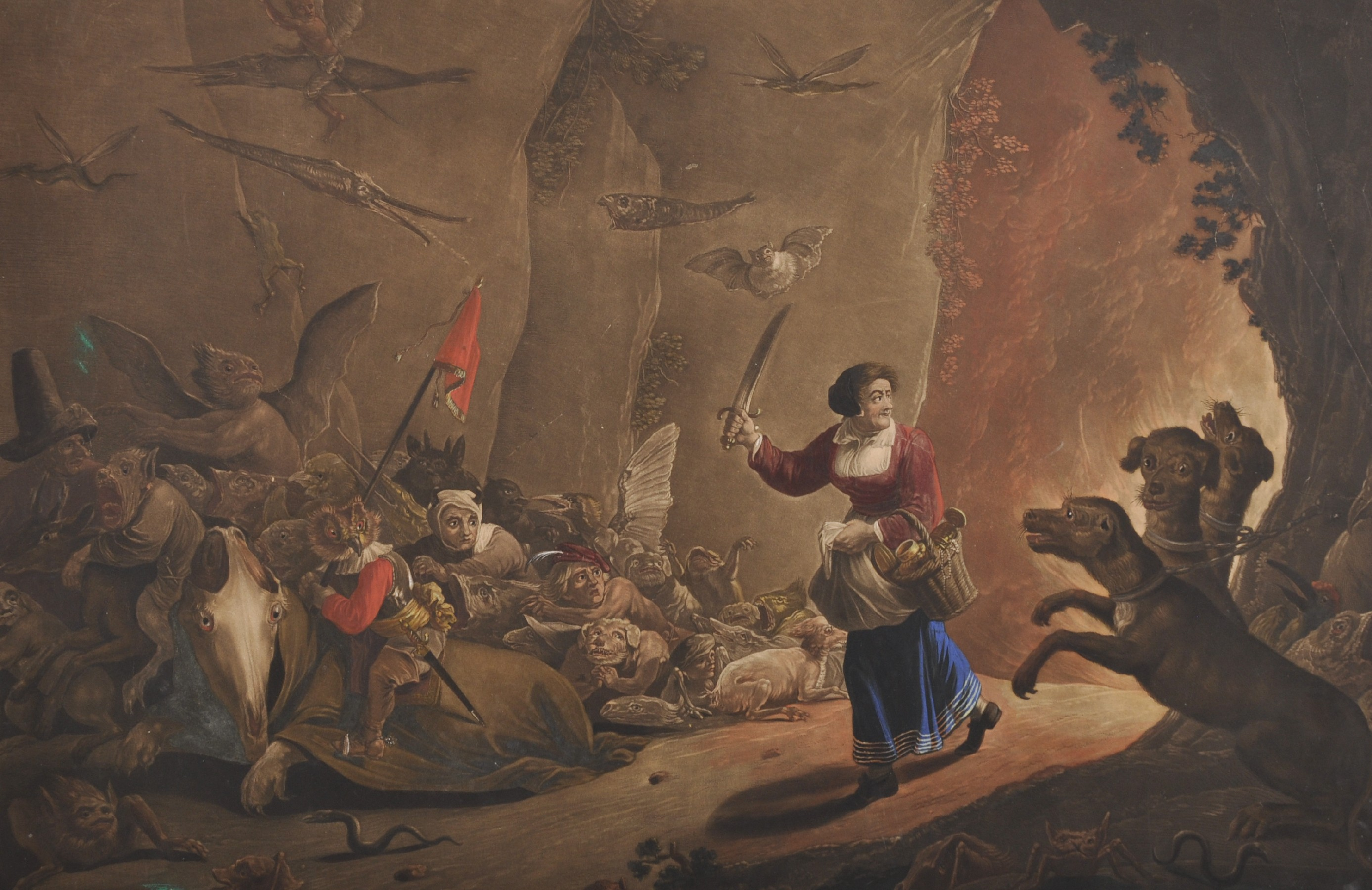 "18th Century German School after David Teniers (1610-1690) Flemish. ""Dulle Griet (Mad Meg)"","
