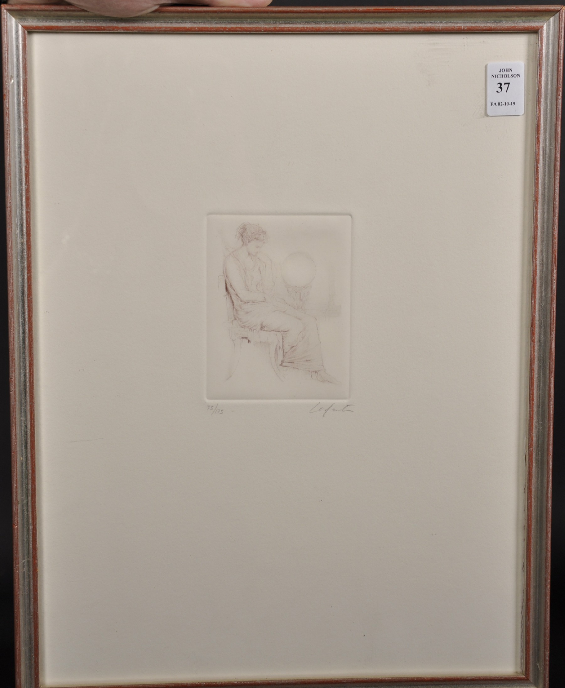 Laforte (20th Century) European. Study of a Seated Maiden, Etching, Indistinctly Signed and Numbered - Image 2 of 4