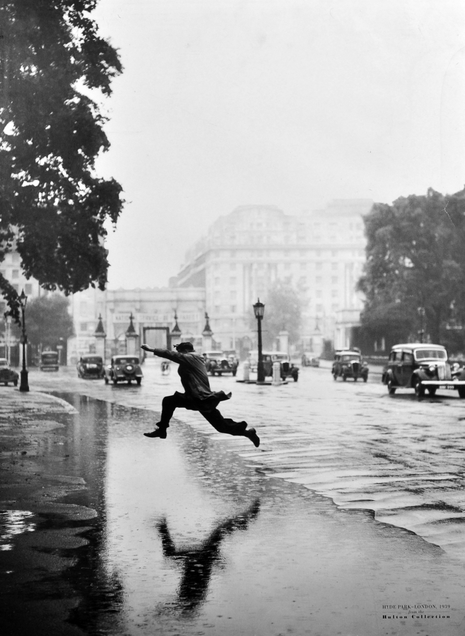 "After J A Hampton (20th Century) British. ""Leap of Faith"", Hyde Park, London, 1939, from the"