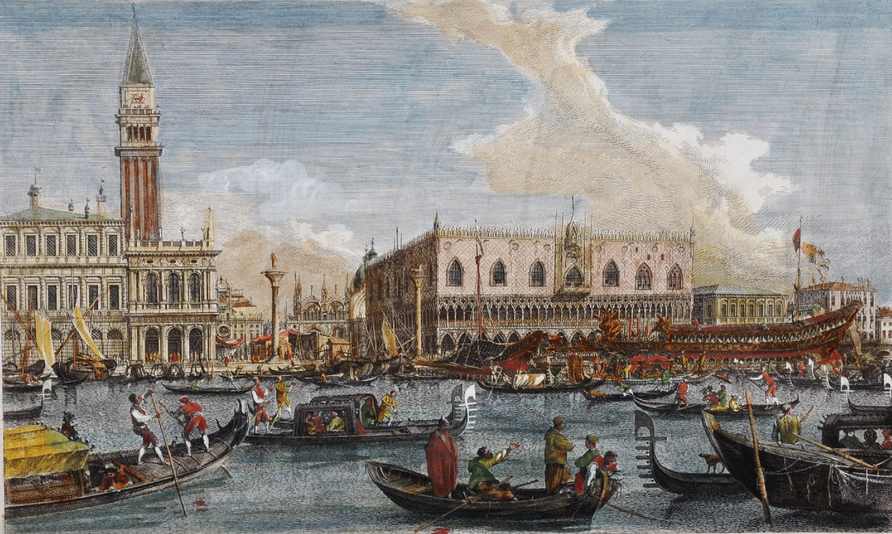 """After Giovanni Antonio Canal 'Canaletto' (1697-1768) Italian. """"Bucentoro e fiera Veneta nel di"""