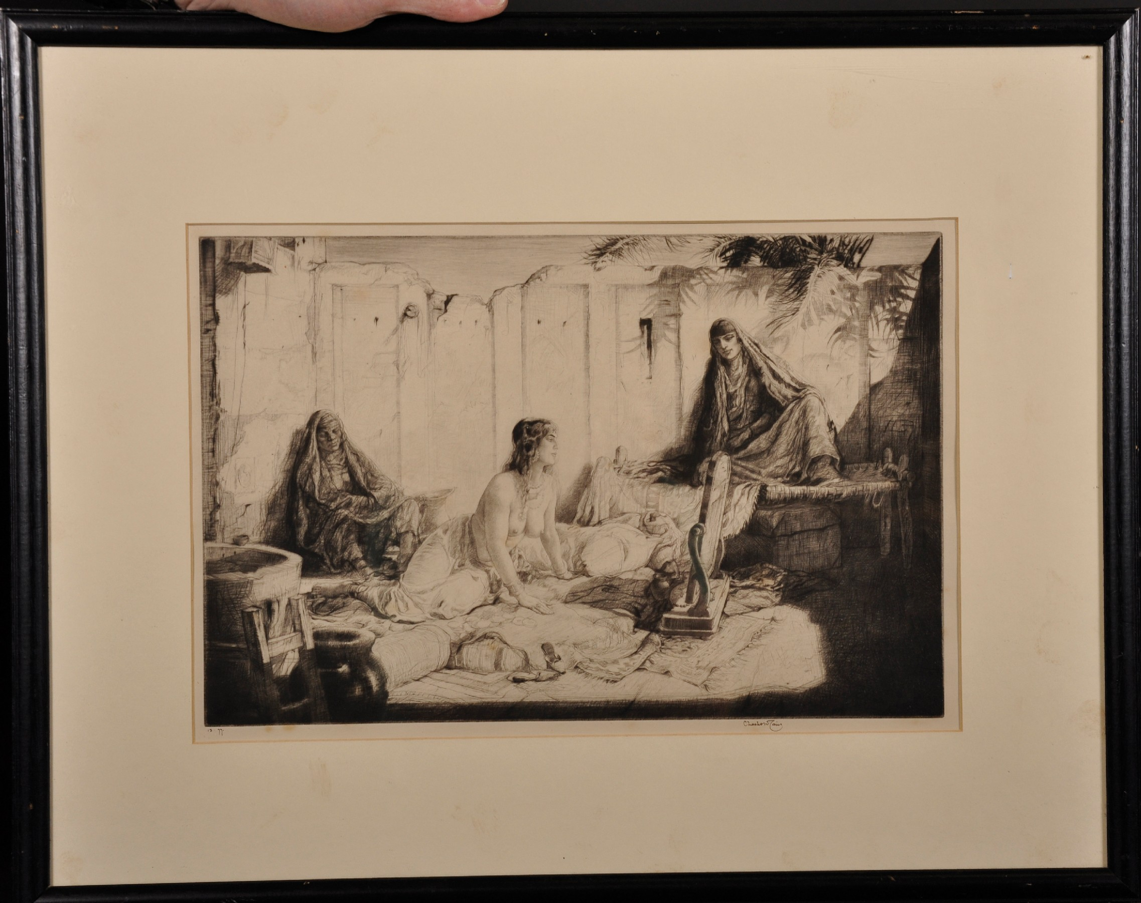 Charles William Cain (1893-1962) British. A Hareem Scene, Etching, Signed and Inscribed '13.77.', - Image 2 of 5