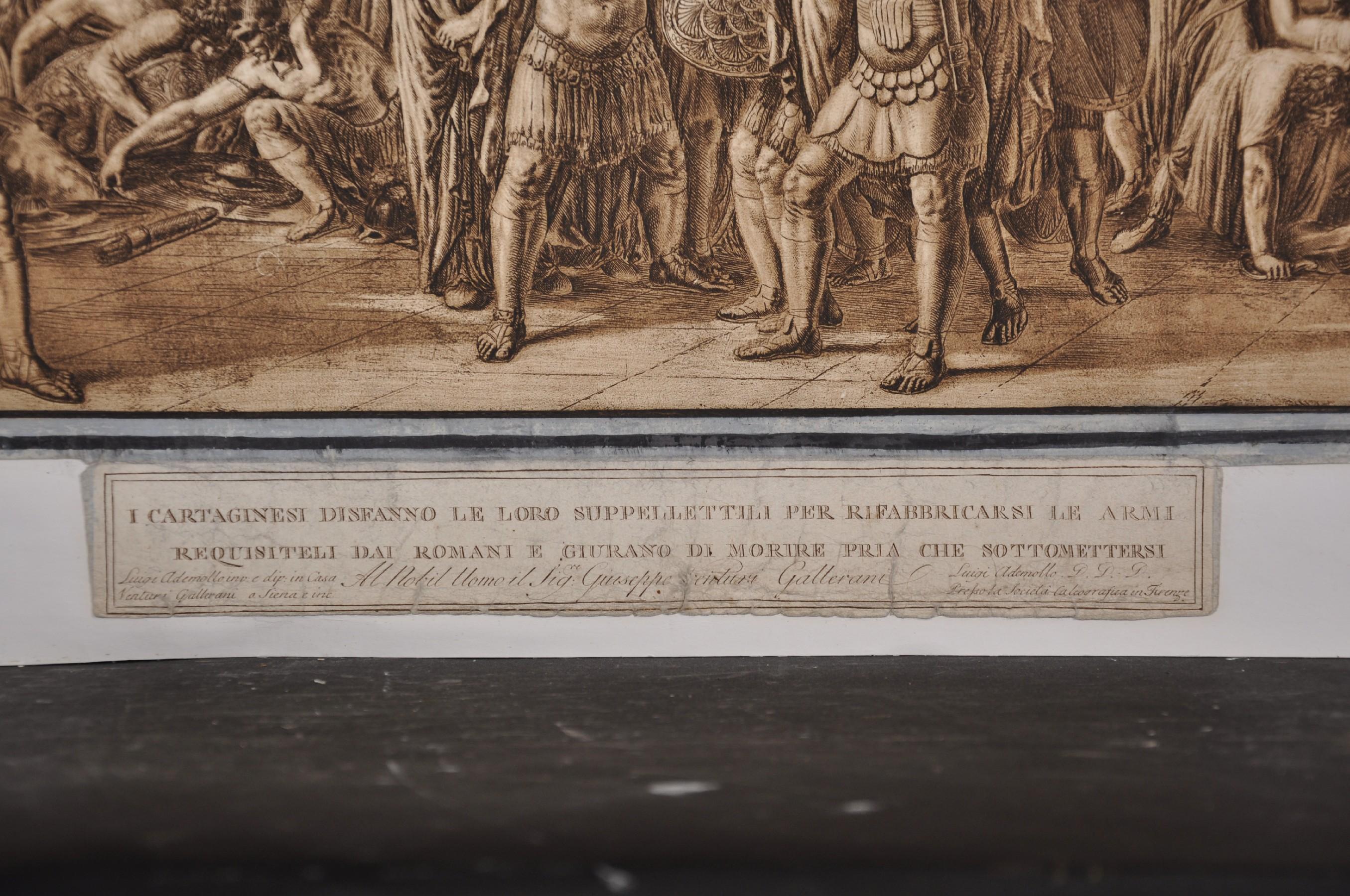 "After Luigi Ademollo (1764-1849) Italian. ""I Cartaginesi Sidfanno le Loro Suppellettili per - Image 3 of 4"