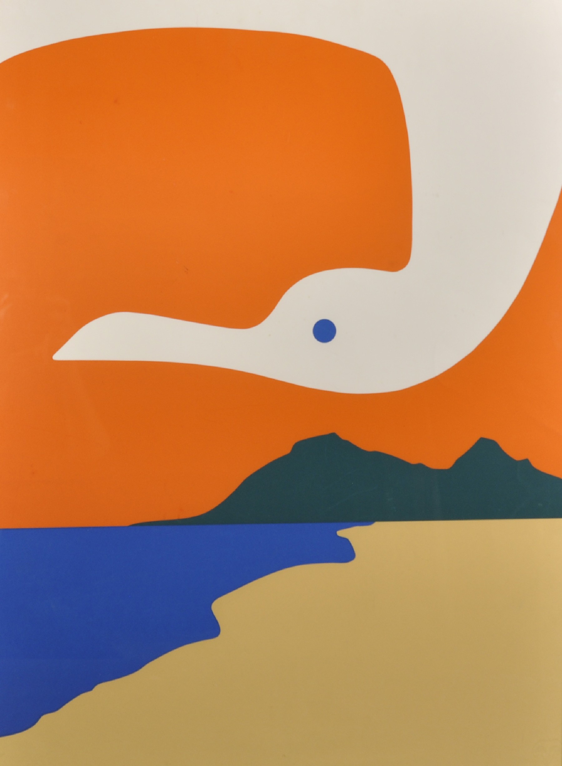 "Jean Coulot (1928-2010) Swiss. ""La Mouette II"", Serigraph, Signed and Numbered 2/90, 29.5"" x 21.5""."