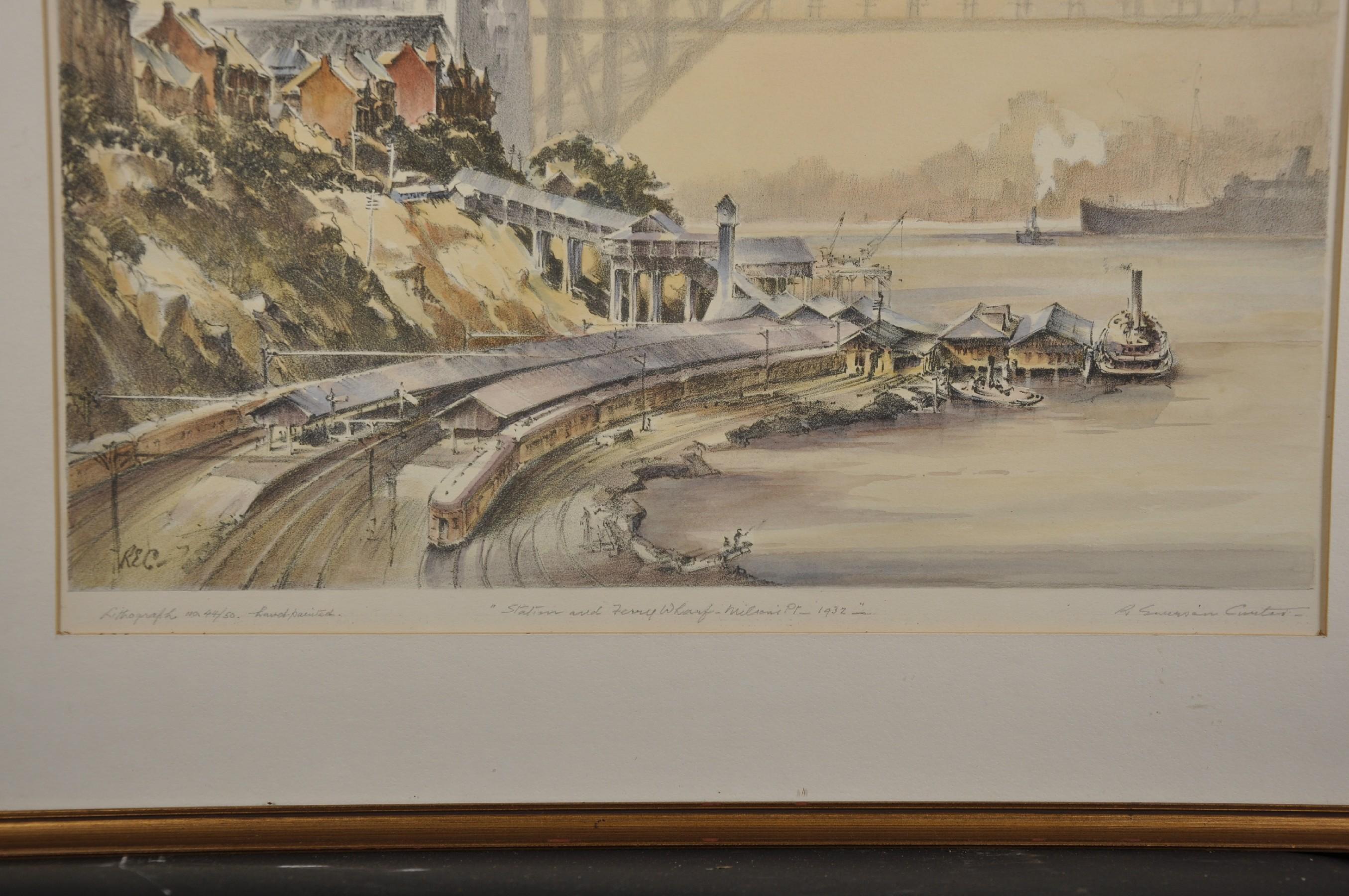"Robert Emerson Curtis (1898-1996) British/Australian. ""The Bridge from Woolloomooloo"", with Sydney - Image 8 of 12"
