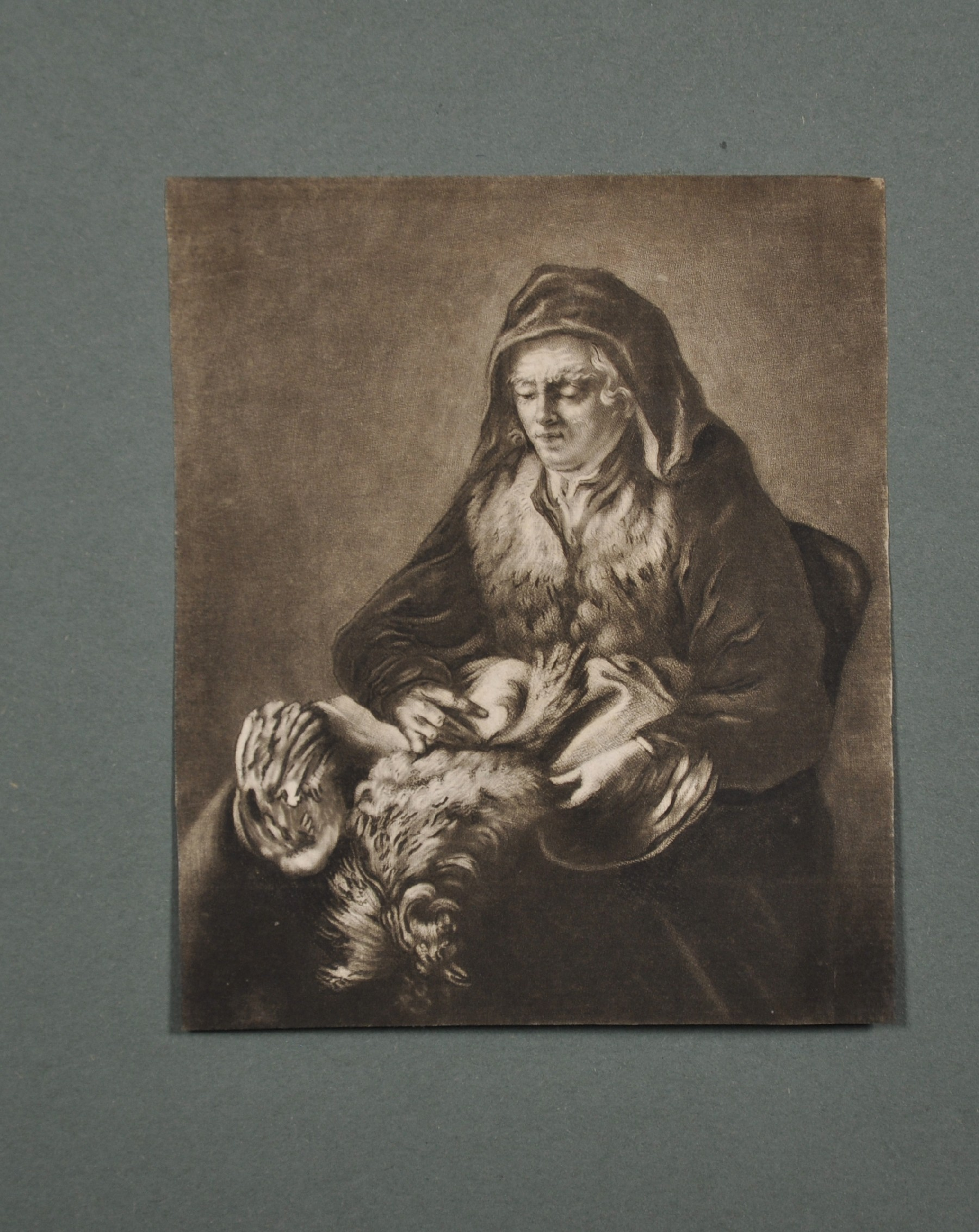 """18th Century English School. """"The Flemish Drinker"""" after David Teniers (1610-1690), Engraving, - Image 7 of 8"""