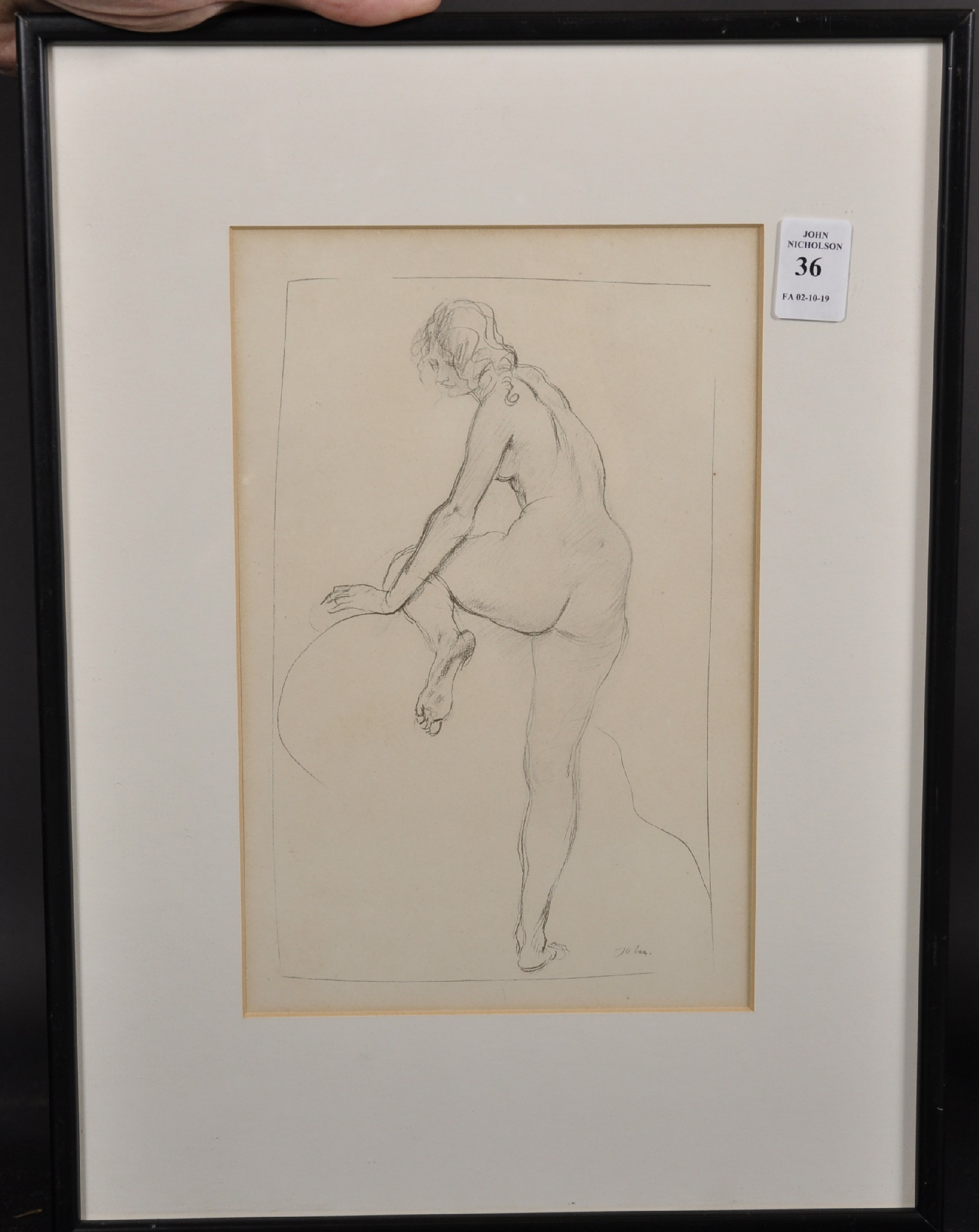 "Augustus John (1878-1961) British. Study of a Naked Girl, Print, 10"" x 6.5"". - Image 2 of 4"