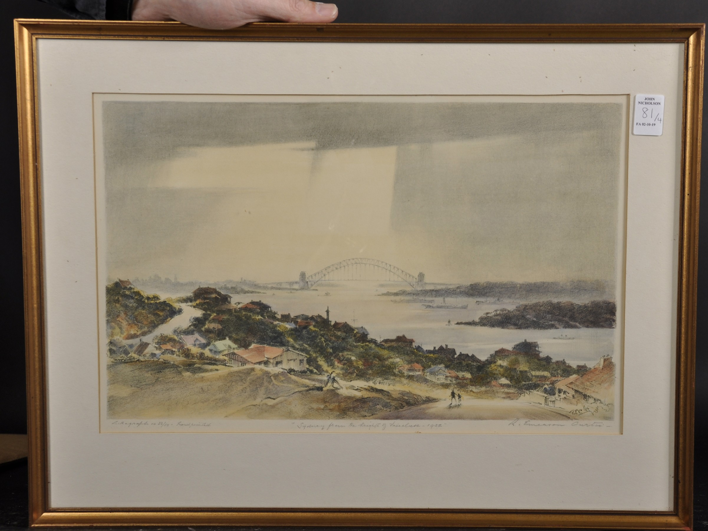 "Robert Emerson Curtis (1898-1996) British/Australian. ""The Bridge from Woolloomooloo"", with Sydney - Image 3 of 12"