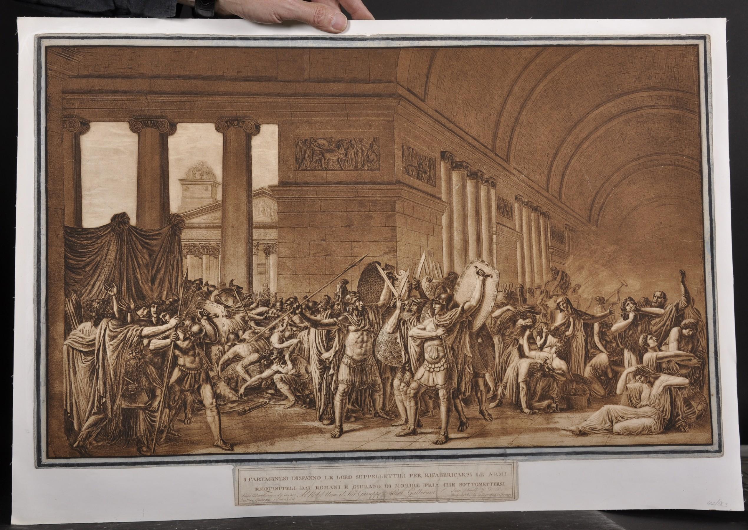 "After Luigi Ademollo (1764-1849) Italian. ""I Cartaginesi Sidfanno le Loro Suppellettili per - Image 2 of 4"