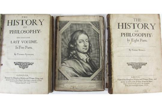 Stanley, Thomas The history of philosophy  London: Humphrey Moseley