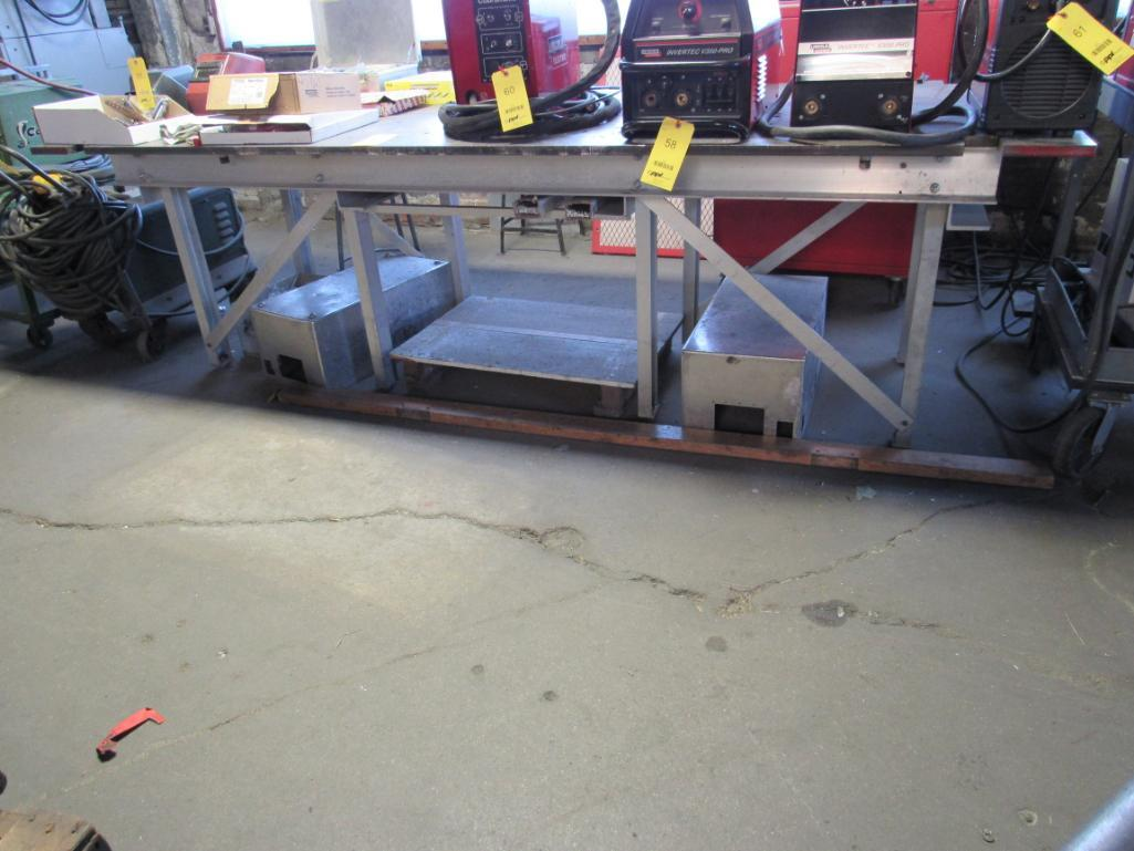 Lot 69 - 48 in. x 120 in. Welding Table