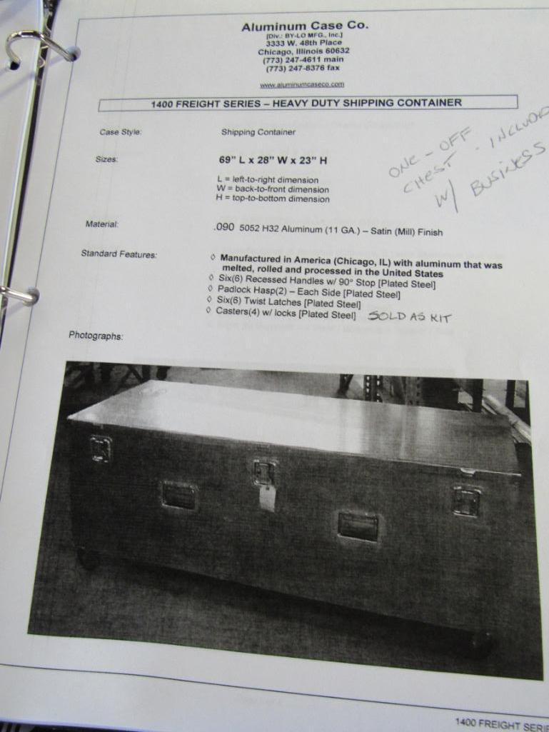 Lot 167 - LOT: (2) New Cases-Catalog #1460 on Skid