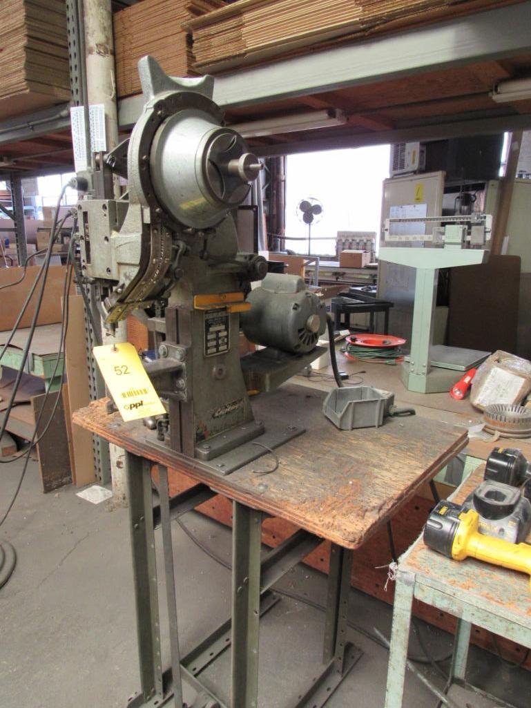 Lot 52 - Chicago Rivet & Machine Bench Top Hopper Feed Riveter Model 450-1156