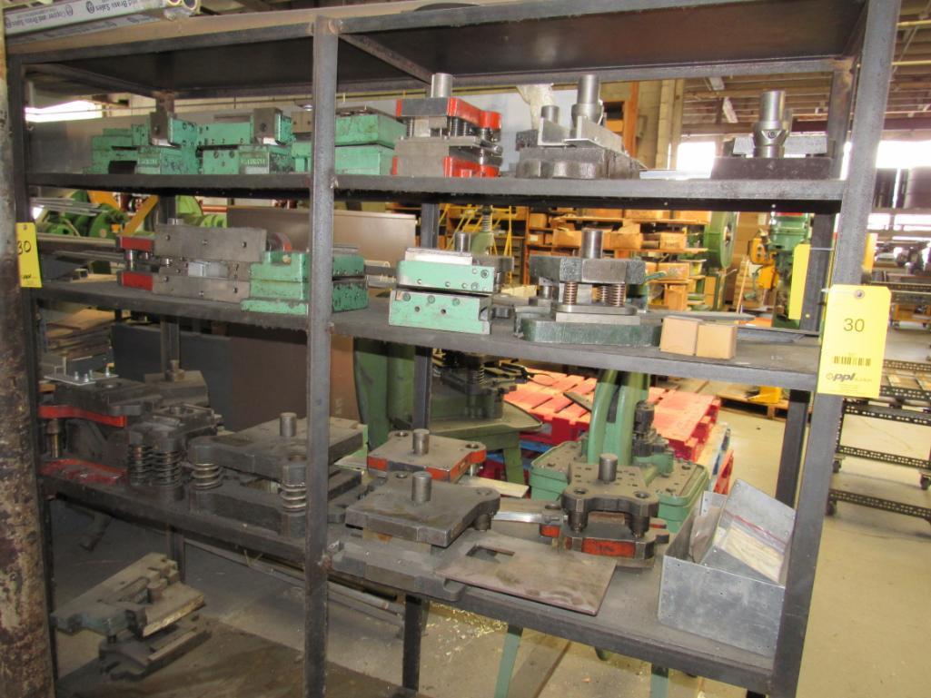 Lot 30 - LOT: Assorted Dies on Steel Shelf