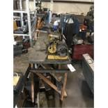 Wood Leg Steel Top Work Bench 10' Length