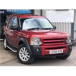 2006/56 REG LAND ROVER DISCOVERY 3 TDV6 SE AUTO 2.7 DIESEL 4X4 RED 7 SEATER *NO VAT*