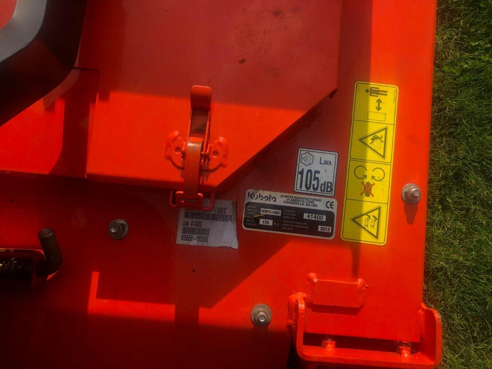"""Lot 38 - KUBOTA 3680 4x4, YEAR 2013, 60"""" REAR DISCHARGE UPFRONT ROTARY MOWER, HYDRO DRIVE. *PLUS VAT*"""