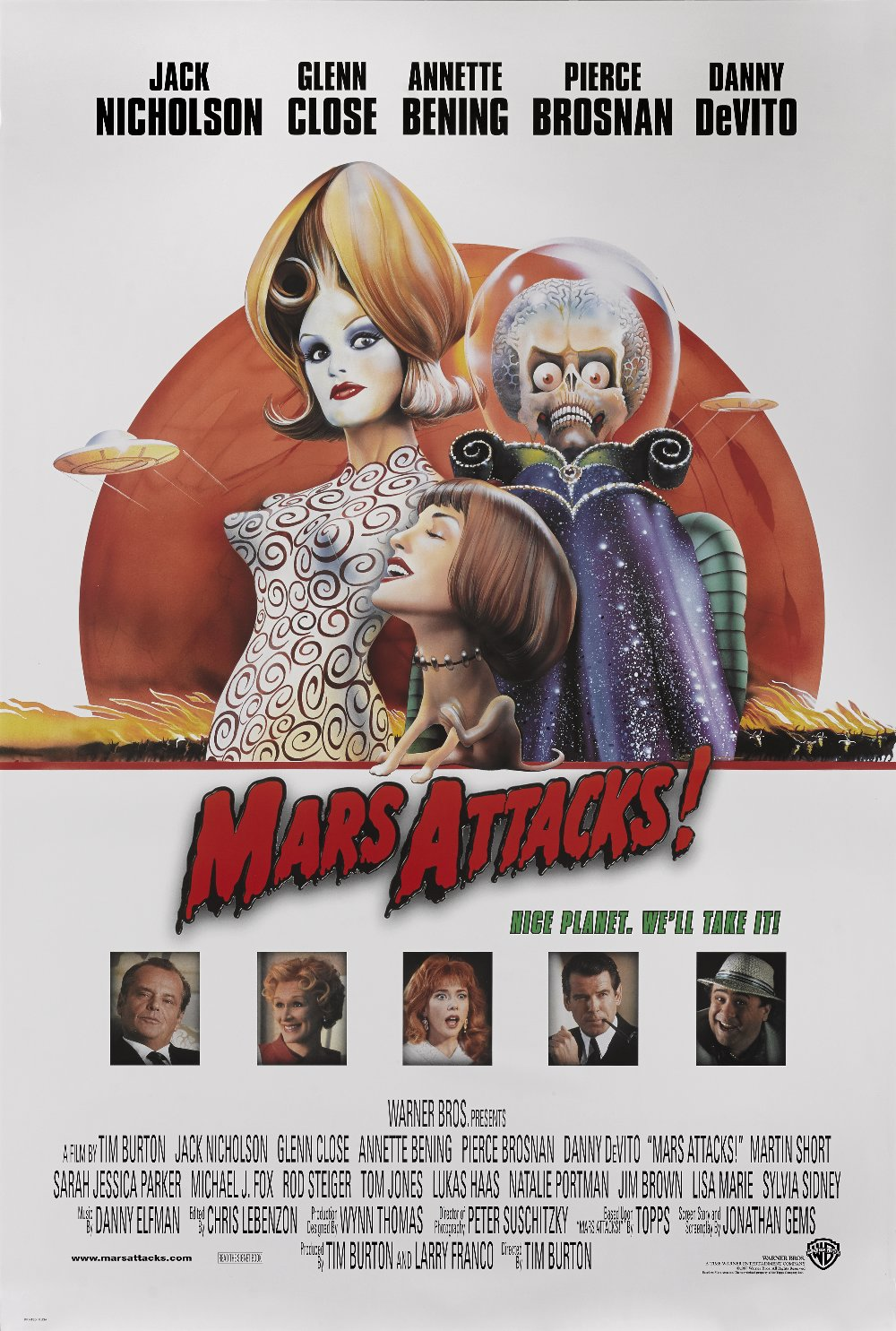TWO MARS ATTACKS POSTERS MARS ATTACKS, 1996, US, Artist: Philip ...