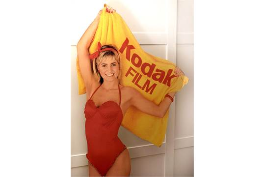 Large Kodak Girl Advertising Sign  (Almost) life-size Kodak