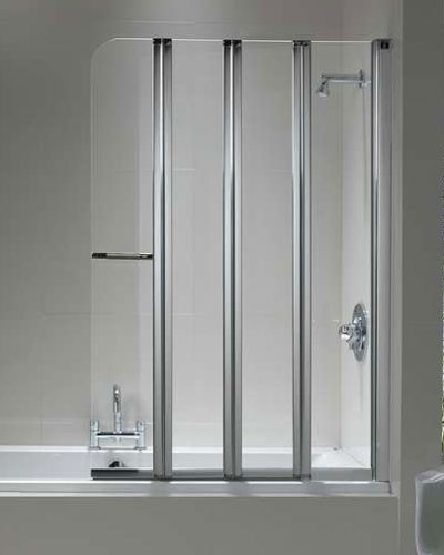 Magnificent 4 Panel Shower Screen Ideas Bathroom With Bathtub