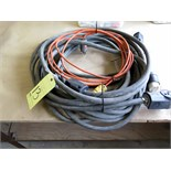 LOT OF ELECTRIC CABLES (3) & EXTENSION CORDS