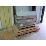 LOT OF ALUMINUM MANUFACTURED PARTS  (in crates on pallet)