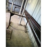 LOT OF METAL TUBING, ANGLE IRON, ETC.  (on two fabricated stands)