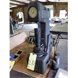 HARDNESS TESTER, ROCKWELL, w/weights & log