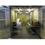 SPRAY BOOTH, CUSTOM, built w/20' connex shipping containers, sgl. end doors