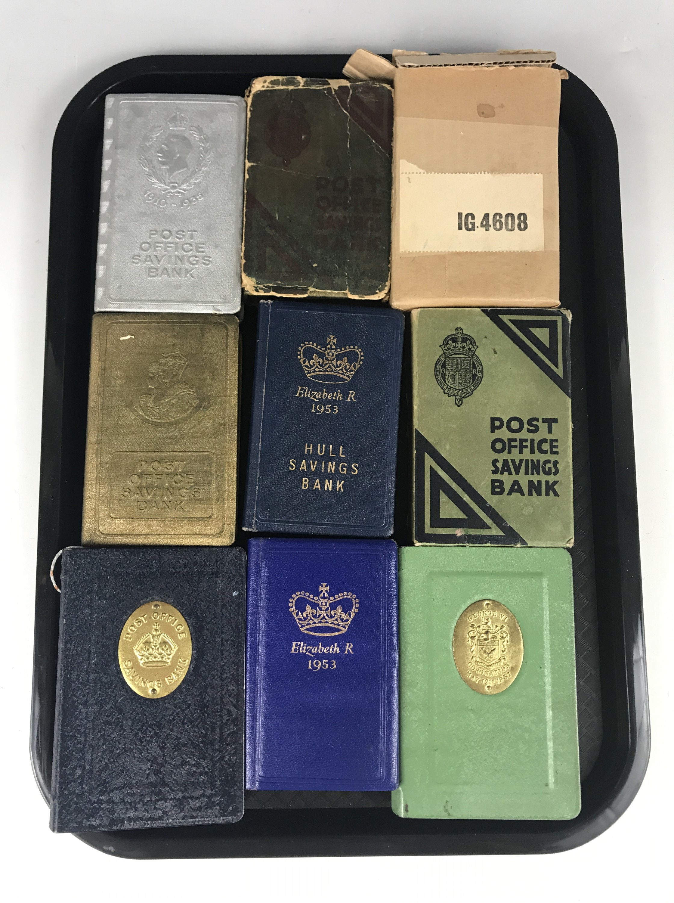 Lot 53 - Nine royal commemorative money boxes / Post Office book-form savings banks