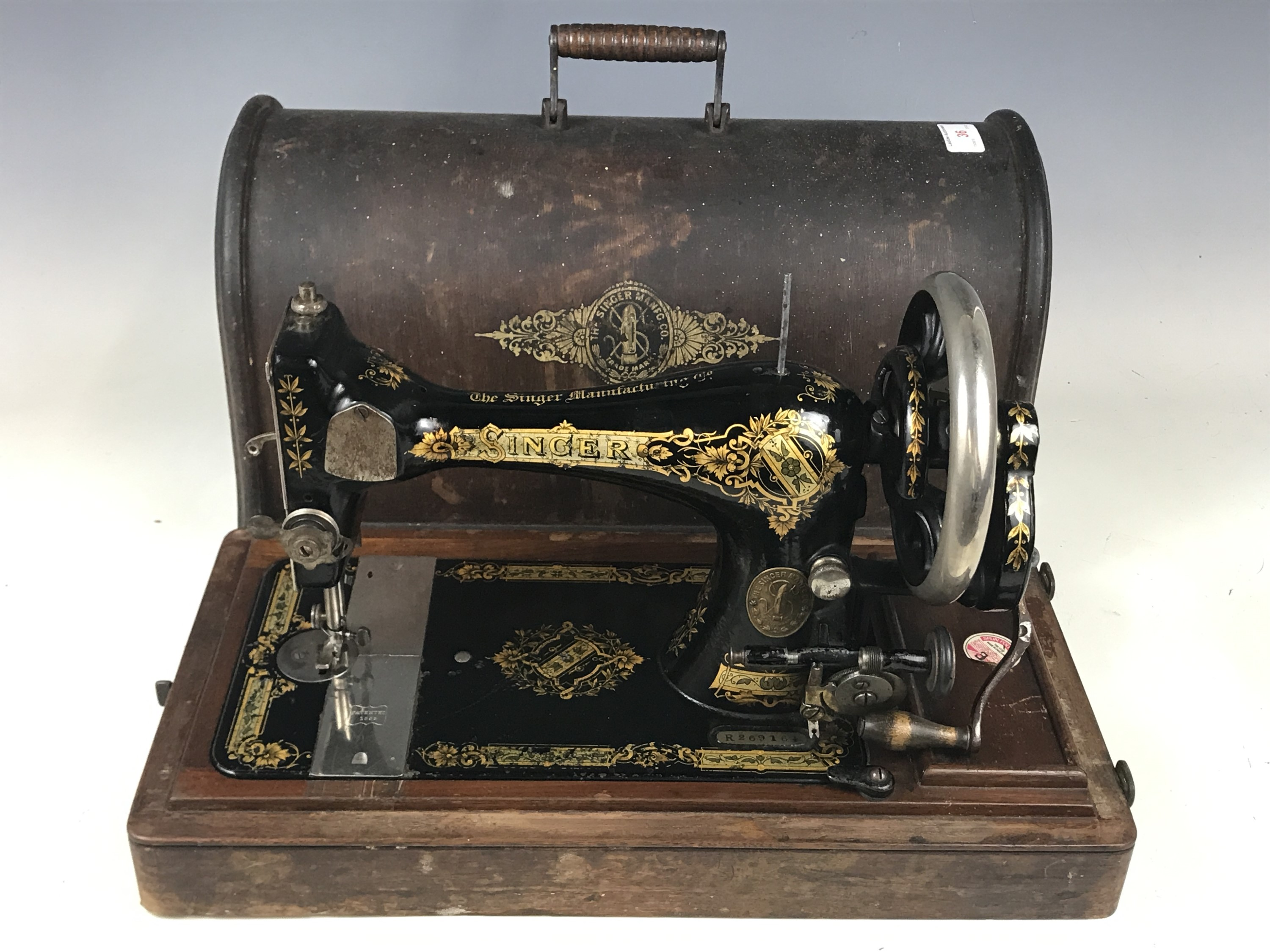 Lot 36 - A Singer sewing machine