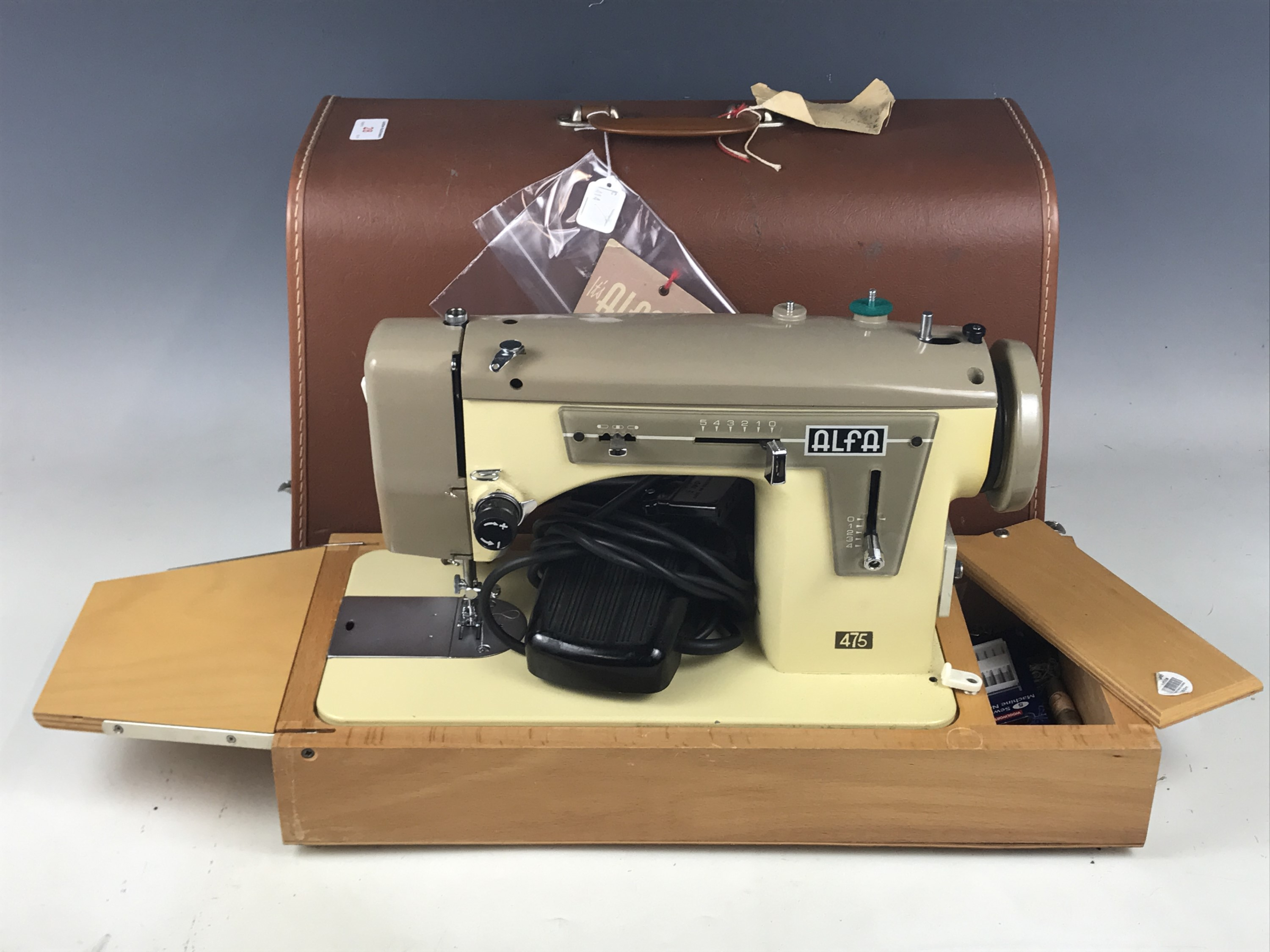 Lot 28 - A mid-20th Century Alfa electric sewing machine